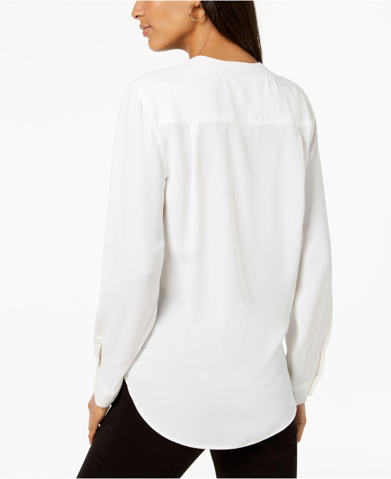 fdea0392eb7725 Lyst - Nine West V-neck Top in White