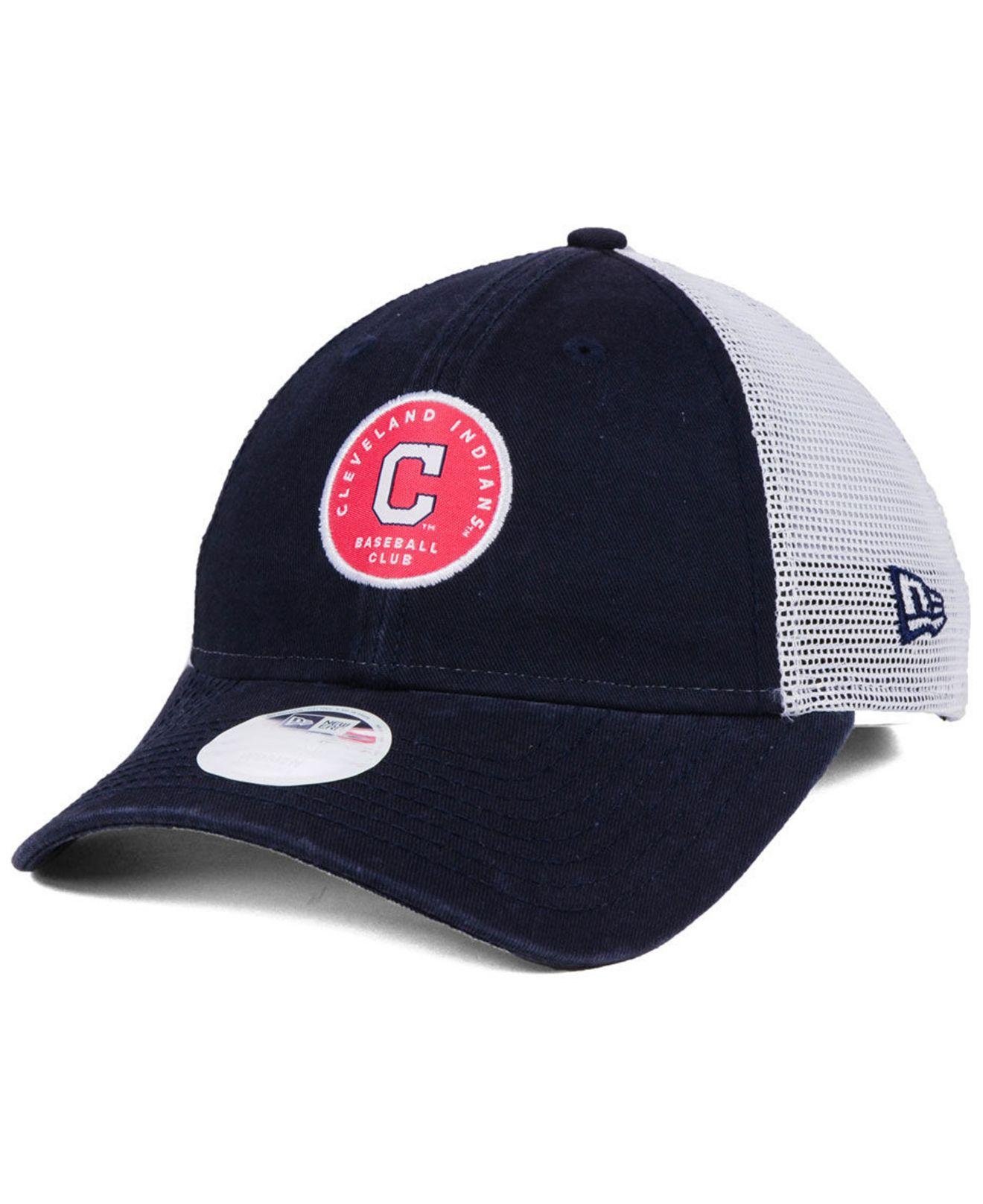 online retailer bb819 eb3fa reduced cleveland indians new era mlb retro classic 59fifty cap 641a4  13d38  best ktz. womens blue cleveland indians washed trucker 9twenty cap  d85c7 37d87
