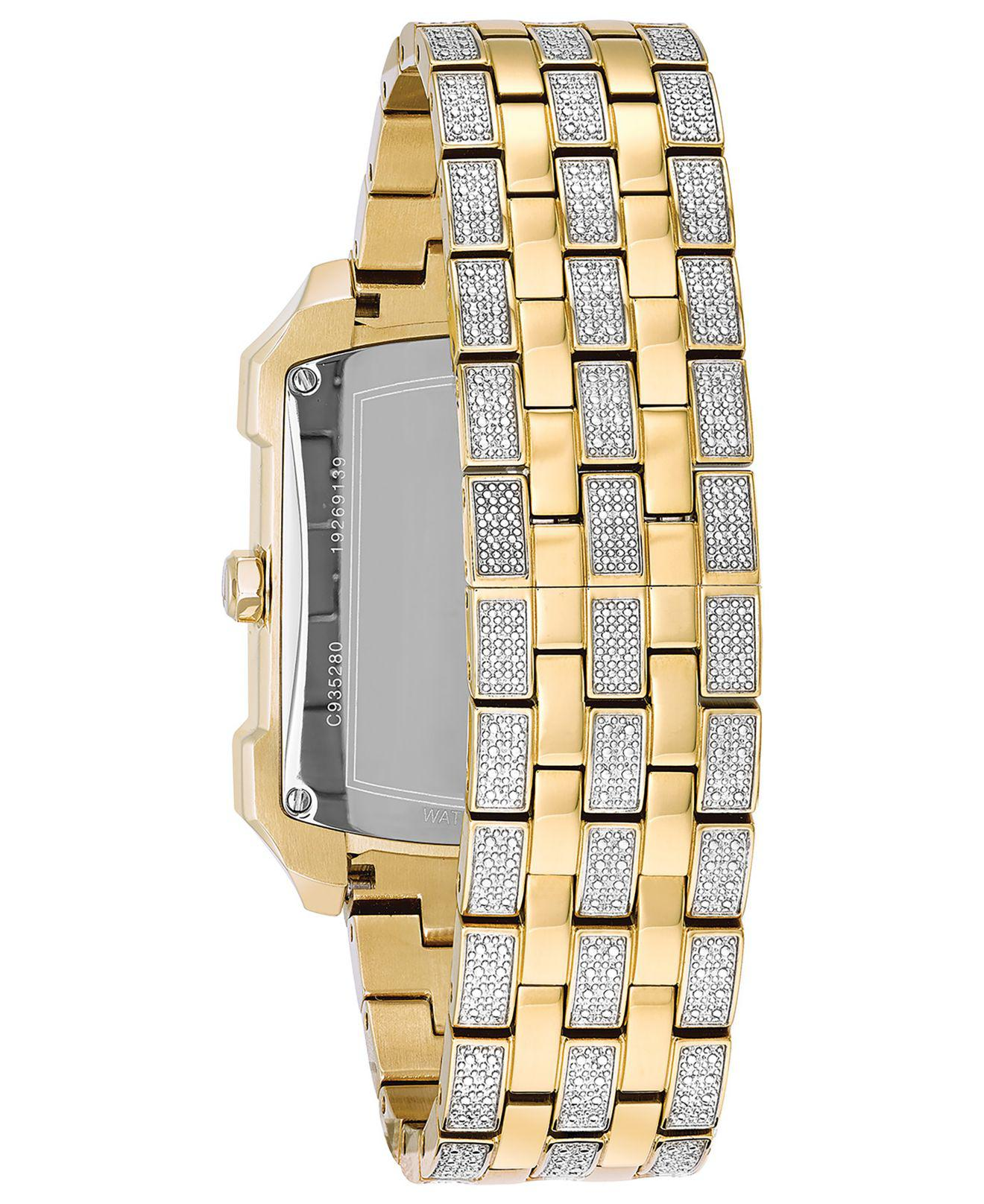 and com walmart watches crystal accented bracelet elgin s gold men ip watch matching