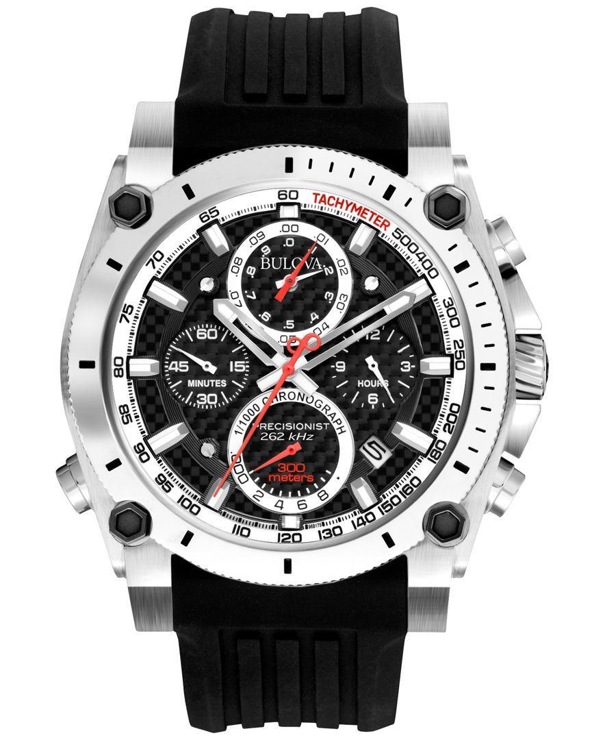 ff18a4f7aec Bulova - Multicolor Men s Chronograph Precisionist Black Rubber Strap Watch  47mm 98b172 for Men - Lyst