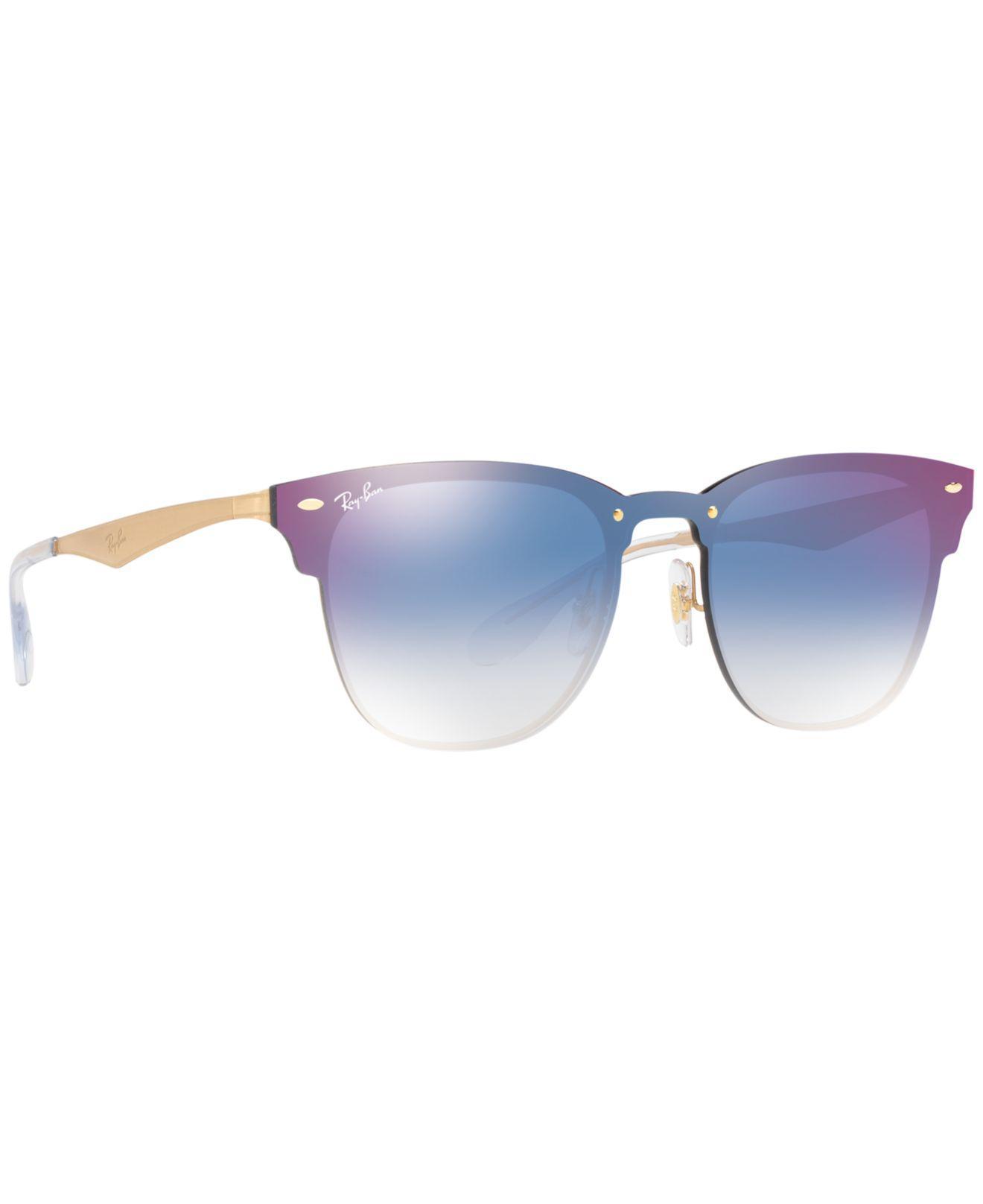 9b57ba16e39c6 Ray-Ban - Blue Rb3576n Unisex Blaze Clubmaster Square Sunglasses for Men -  Lyst. View fullscreen