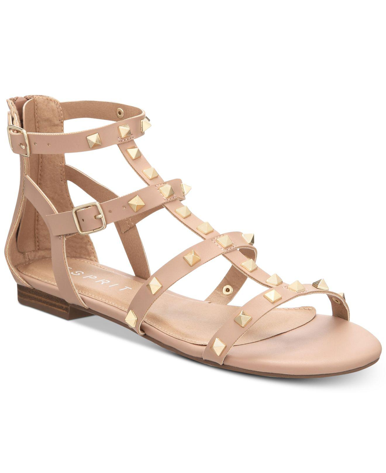 Esprit Keira Embellished Gladiator Flat Sandals Women's Shoes 5s01pW6w7