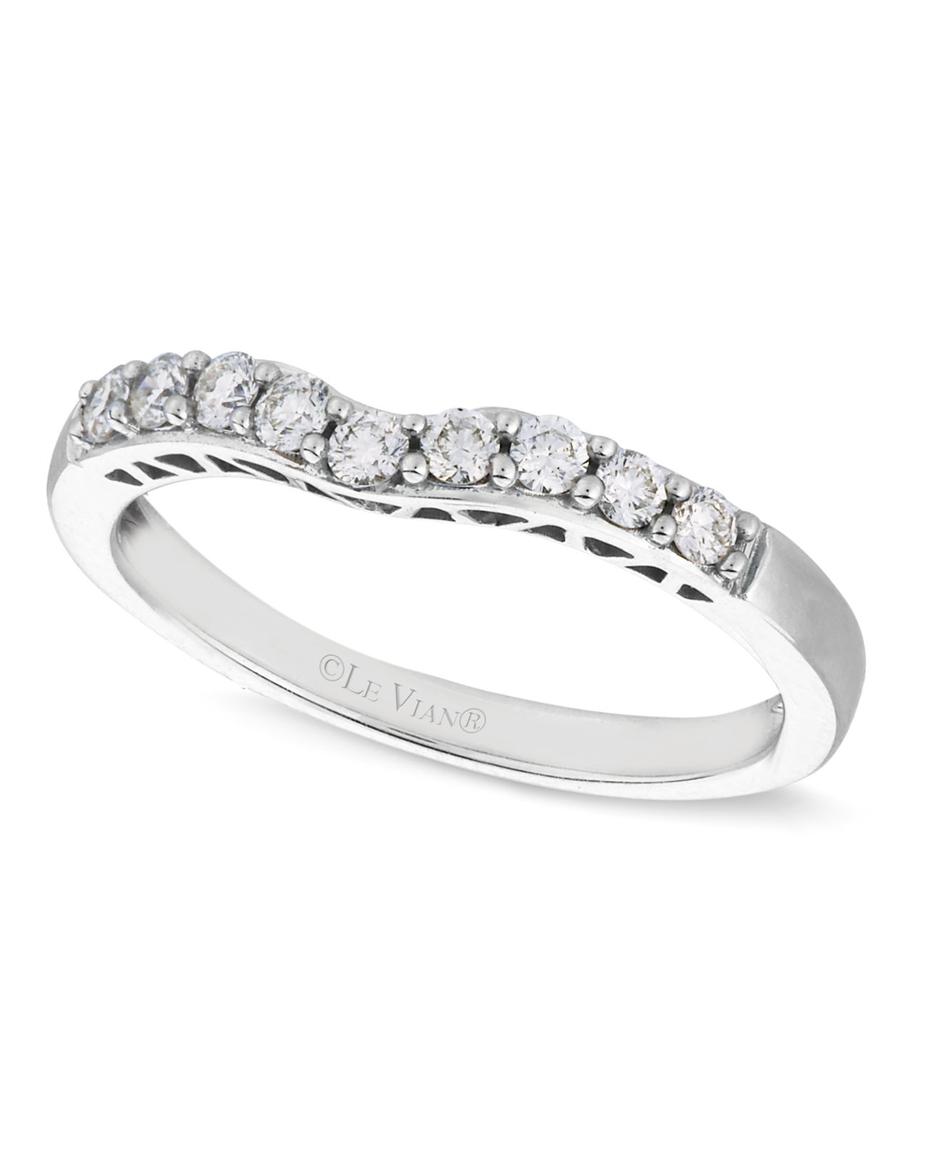 le vian diamond 14k white gold wedding band 14 ct tw 1 le vian wedding bands Le Vian Women s Diamond Diamond Wedding Band