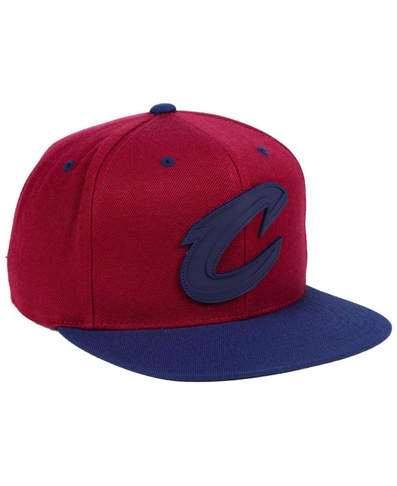 pretty nice 04b11 4045f ... cheapest mitchell ness multicolor cleveland cavaliers rubber weld snapback  cap for men lyst. view fullscreen