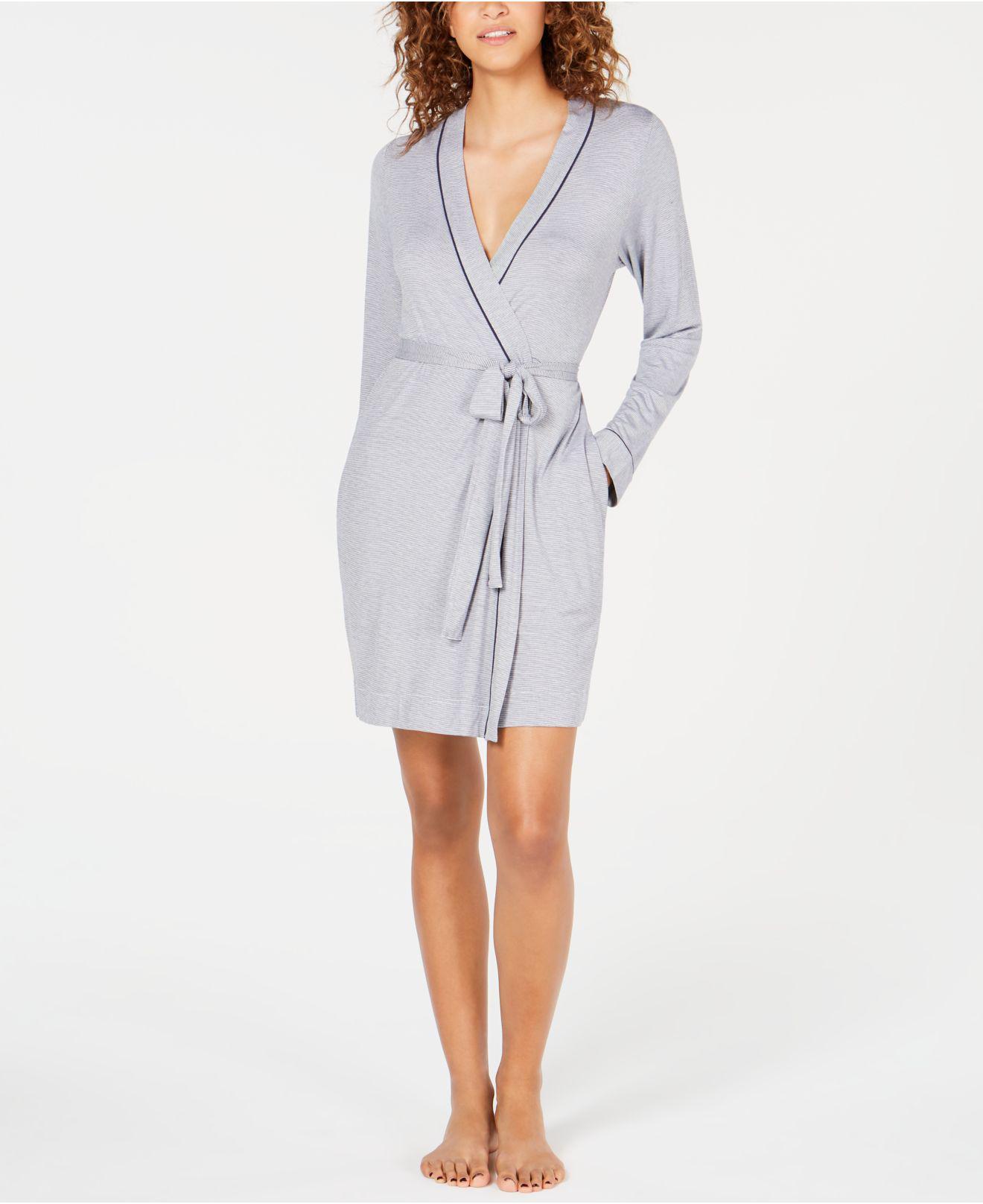 acf0d4d3d4 Lyst - UGG Aldridge Mini-striped Knit Wrap Robe in Blue