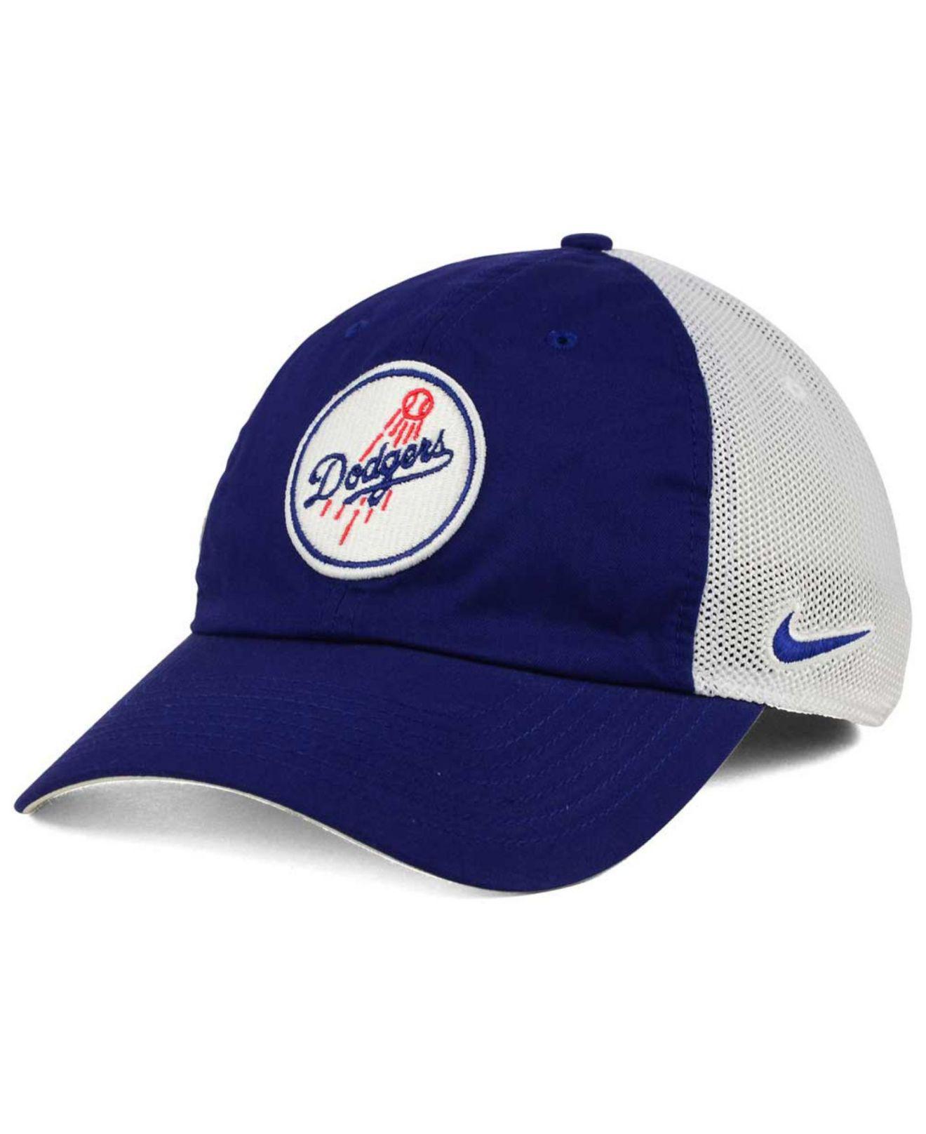 new style f8594 6c07f Nike. Men s Blue Los Angeles Dodgers Dri-fit Mesh Swoosh Adjustable Cap