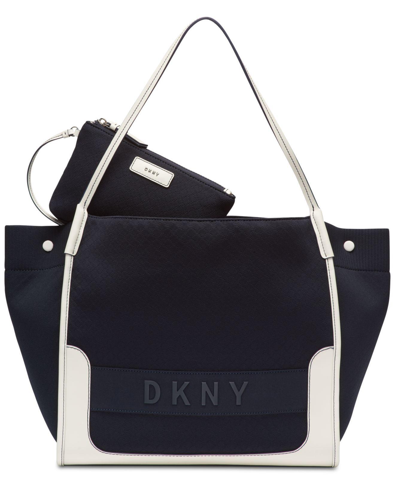 dbd99dd275 Lyst - DKNY Ebony Tote With Pouch