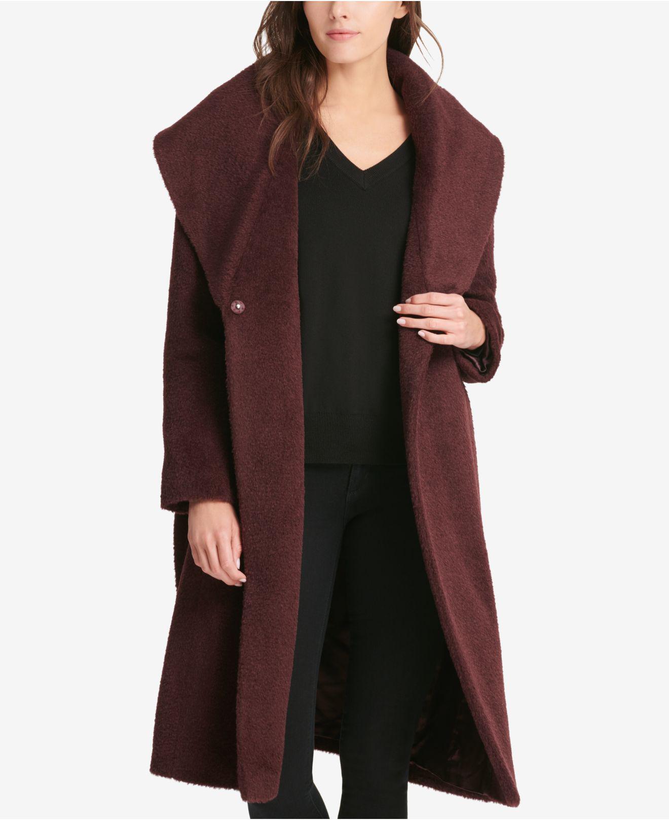 23191a201e11f DKNY. Women s Belted Wrap Coat ...