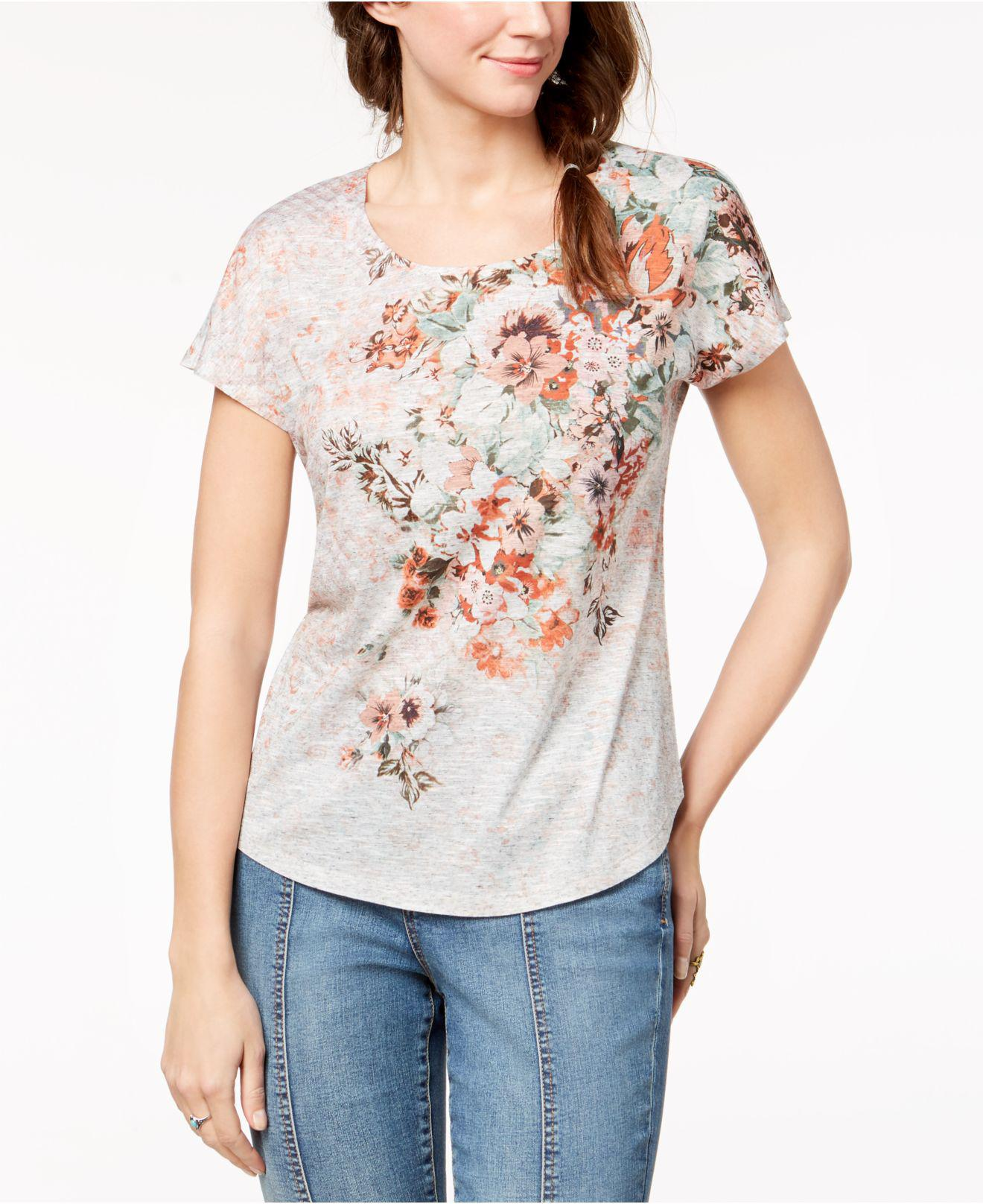 Lyst Style Co Petite Printed T Shirt Created For