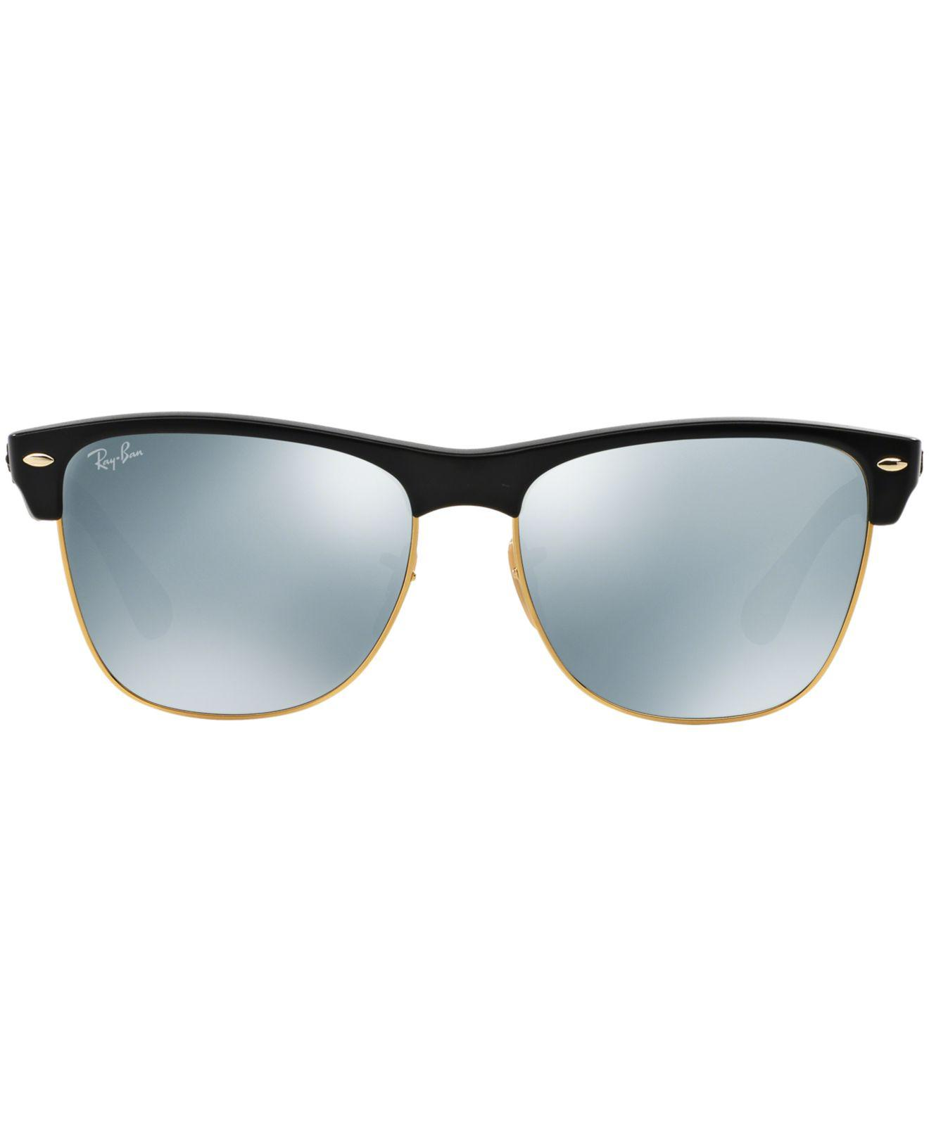 4a1fd11f55 ... purchase lyst ray ban sunglasses rb4175 57 clubmaster oversized in black  for men 736e8 76297