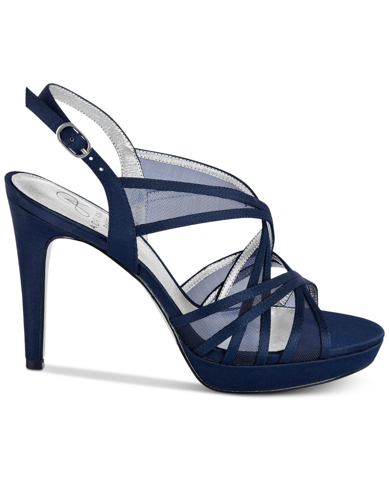 2c1abe1da33 Lyst - Adrianna Papell Adri Platform Strappy Sandals in Blue - Save 55%