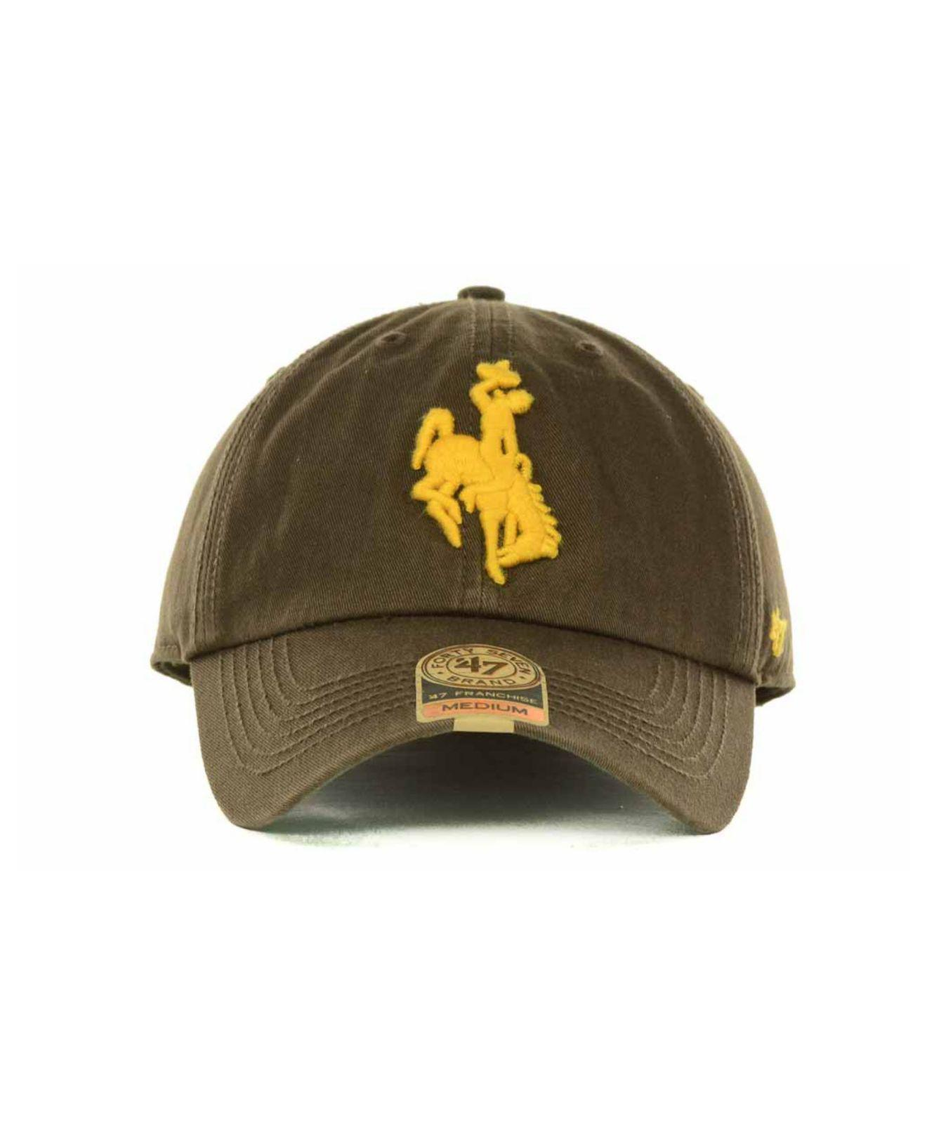 72c64b07661 Lyst - 47 Brand Wyoming Cowboys Franchise Cap in Brown for Men