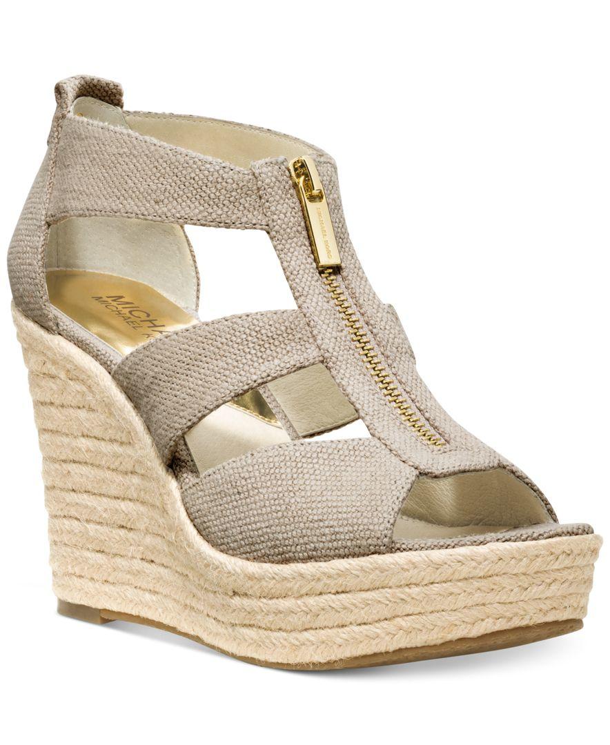Michael Kors Michael Damita Platform Wedge Sandals In
