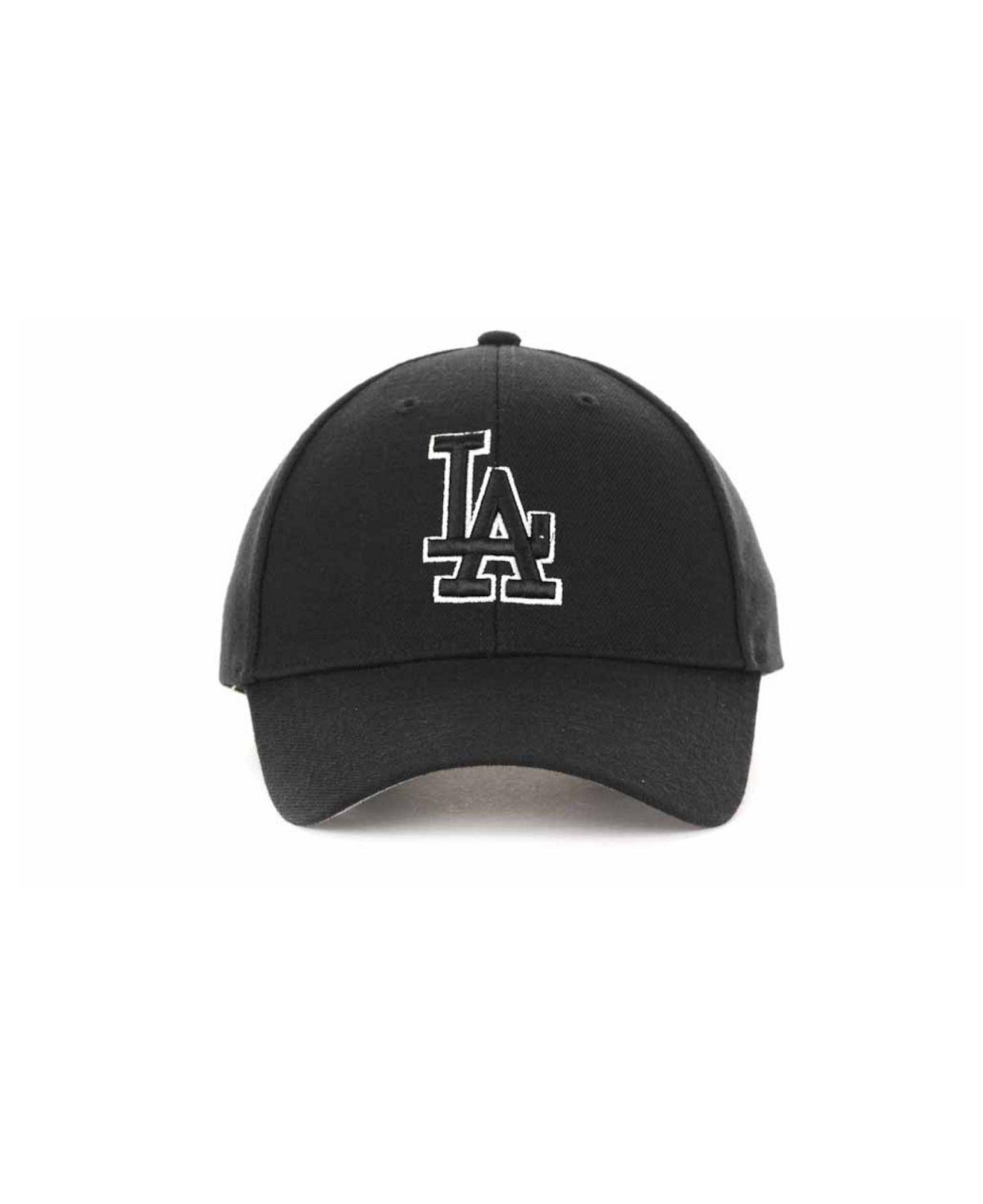 Lyst - 47 Brand Los Angeles Dodgers Mvp Curved Cap in Black 72476b6c937c
