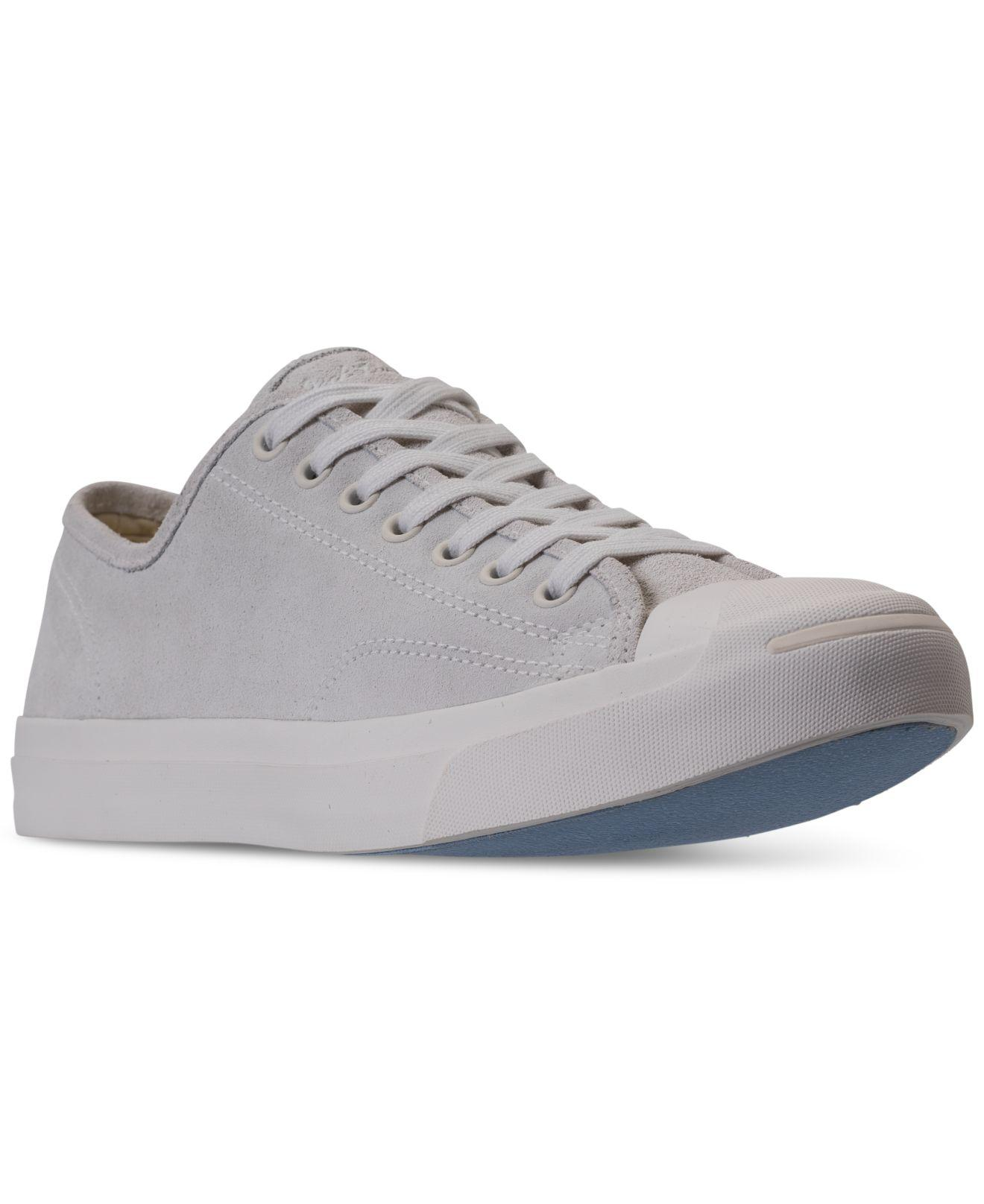 f7bb143b51fb5b Lyst - Converse Men s Jack Purcell Suede Low-top Casual Sneakers ...