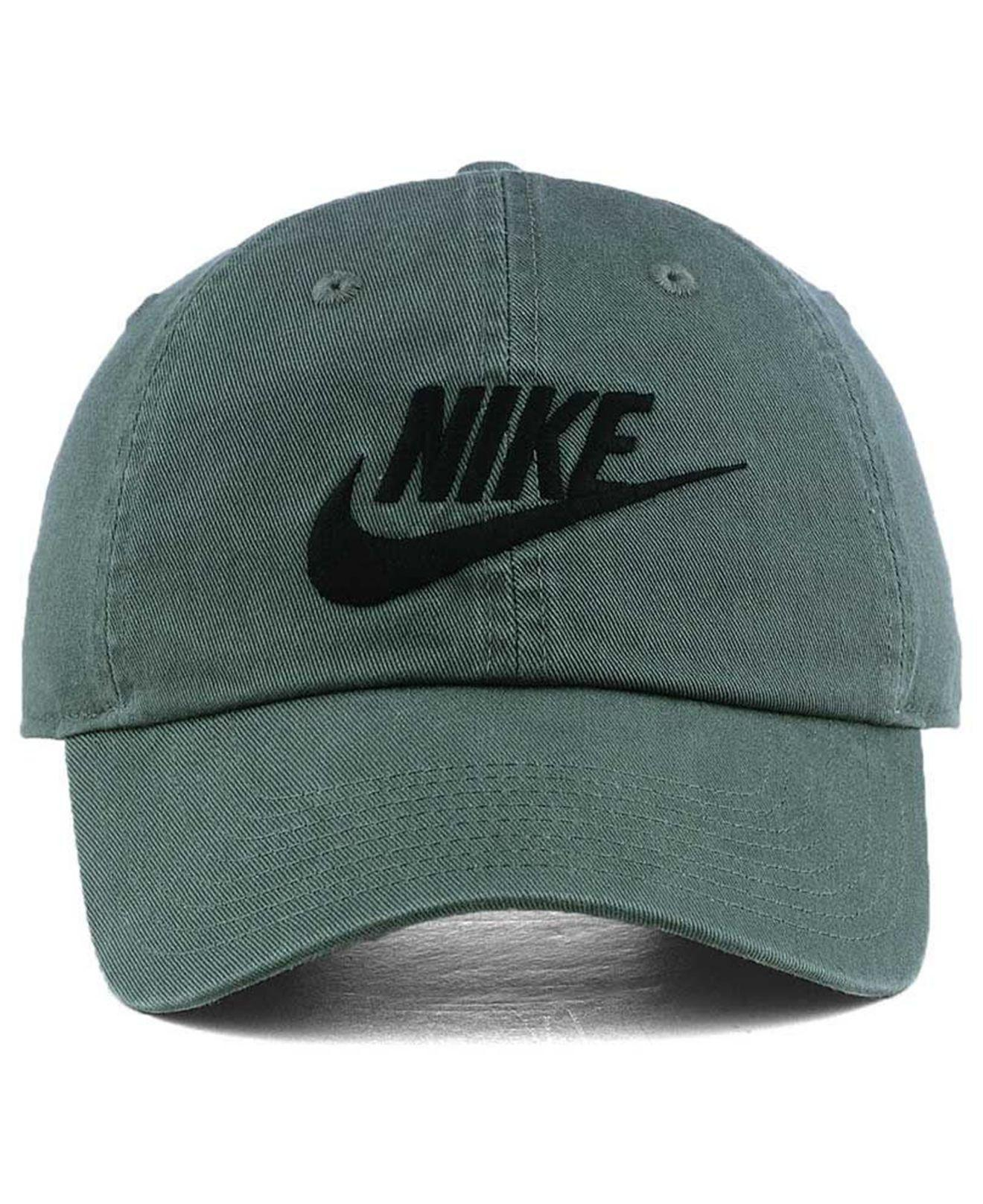 920366e19d4fe ... discount lyst nike futura washed 86 cap in green for men 731c2 6c4fe