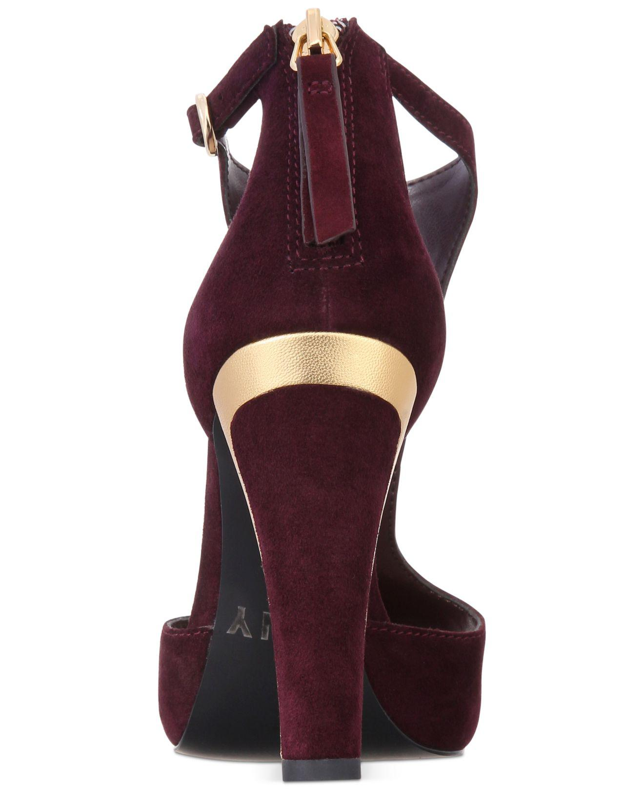 4e61fdab4b0 Lyst - DKNY Colby Ankle Shoes in Purple