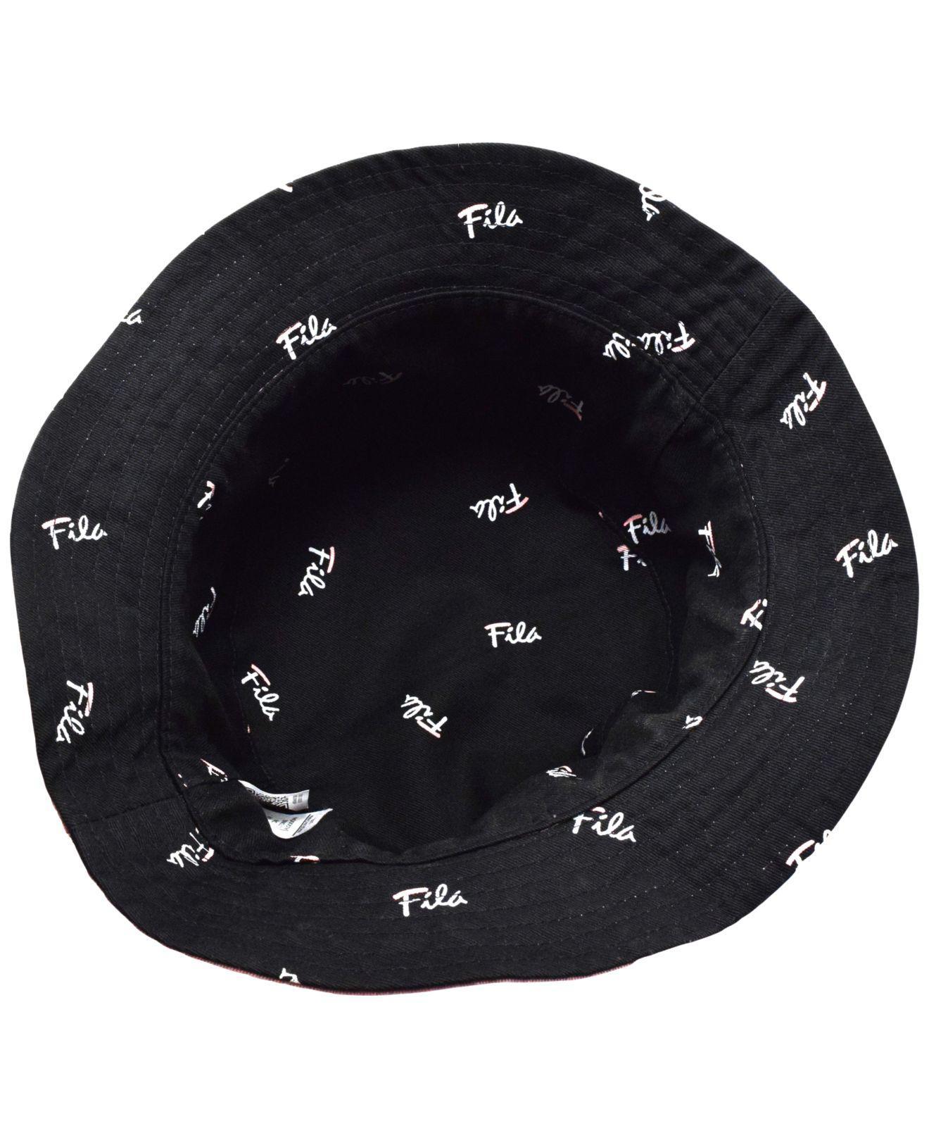 385d06ed4ab Lyst - Fila Cotton Reversible Cotton Bucket Hat