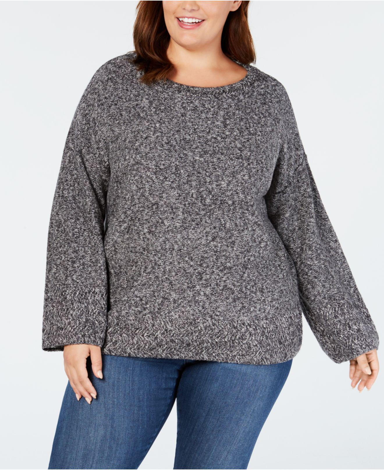 Lyst Style Co Plus Size Relaxed Marled Sweater Created For