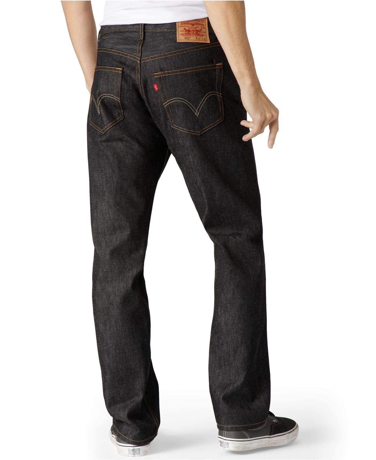 c1a1305d1db Lyst - Levi s Men s Big And Tall 501 Original Shrink To Fit Jeans in Black  for Men