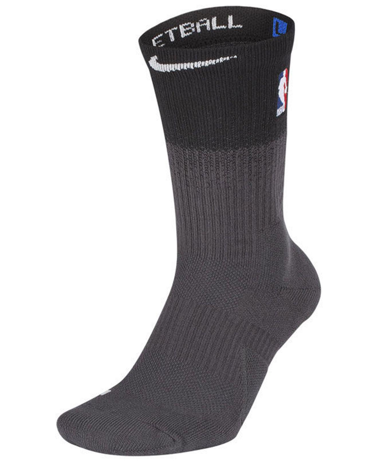 Lyst - Nike Detroit Pistons City Edition Elite Crew Socks in Black ... e3fb15842