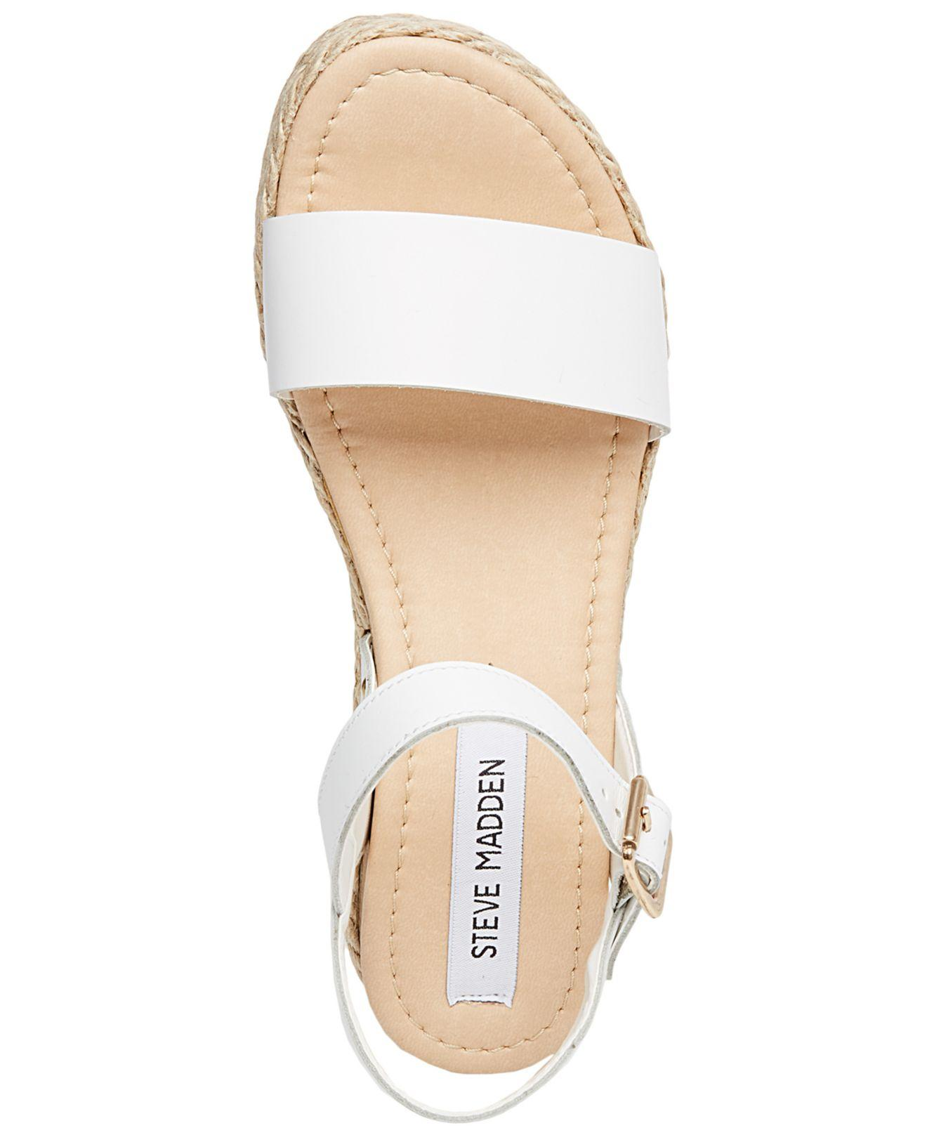 a2a9f96af47 Lyst - Steve Madden Chiara Platform Sandals in White