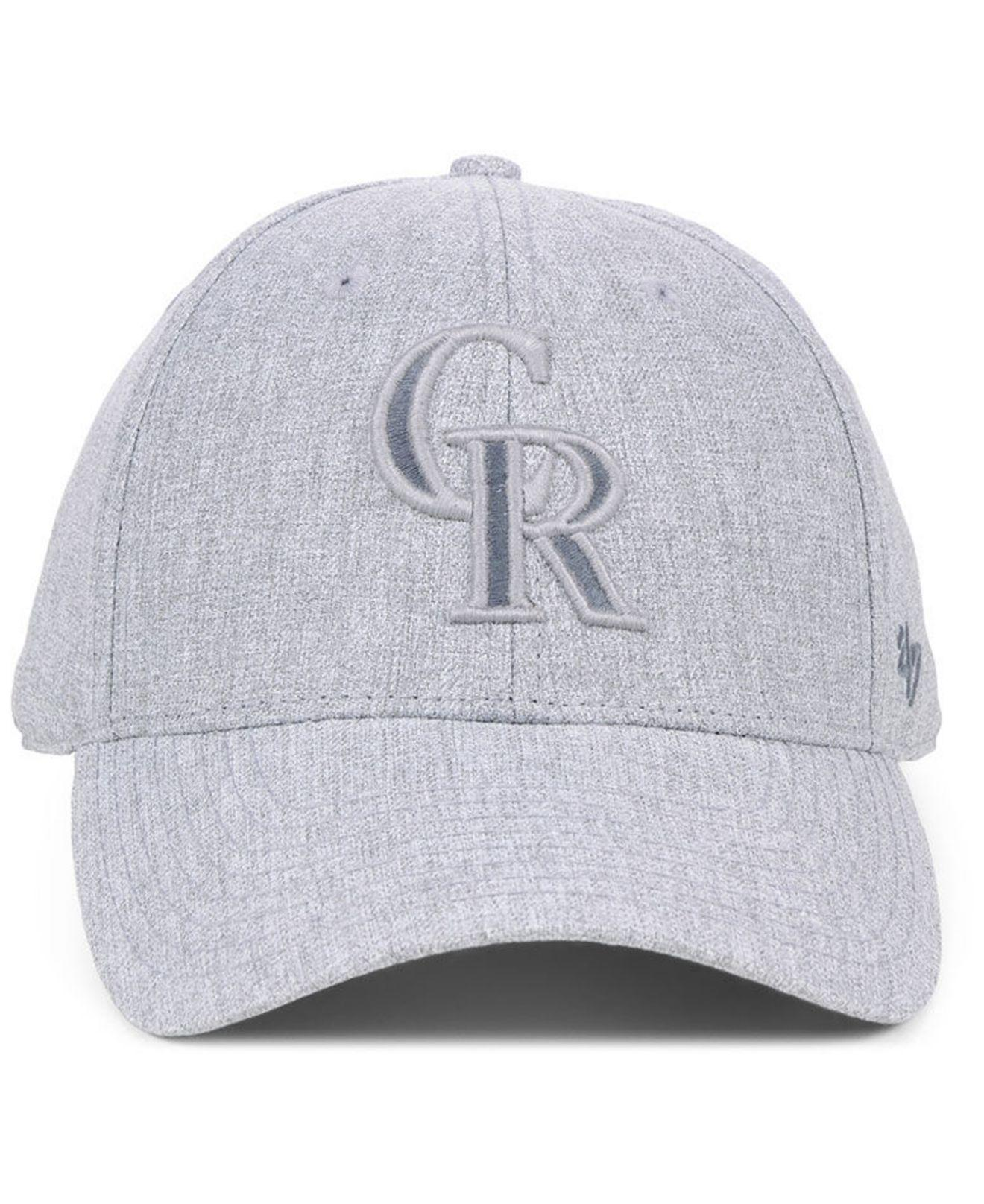 competitive price f329c 22a5f Lyst - 47 Brand Colorado Rockies Flecked Mvp Cap in Gray for Men