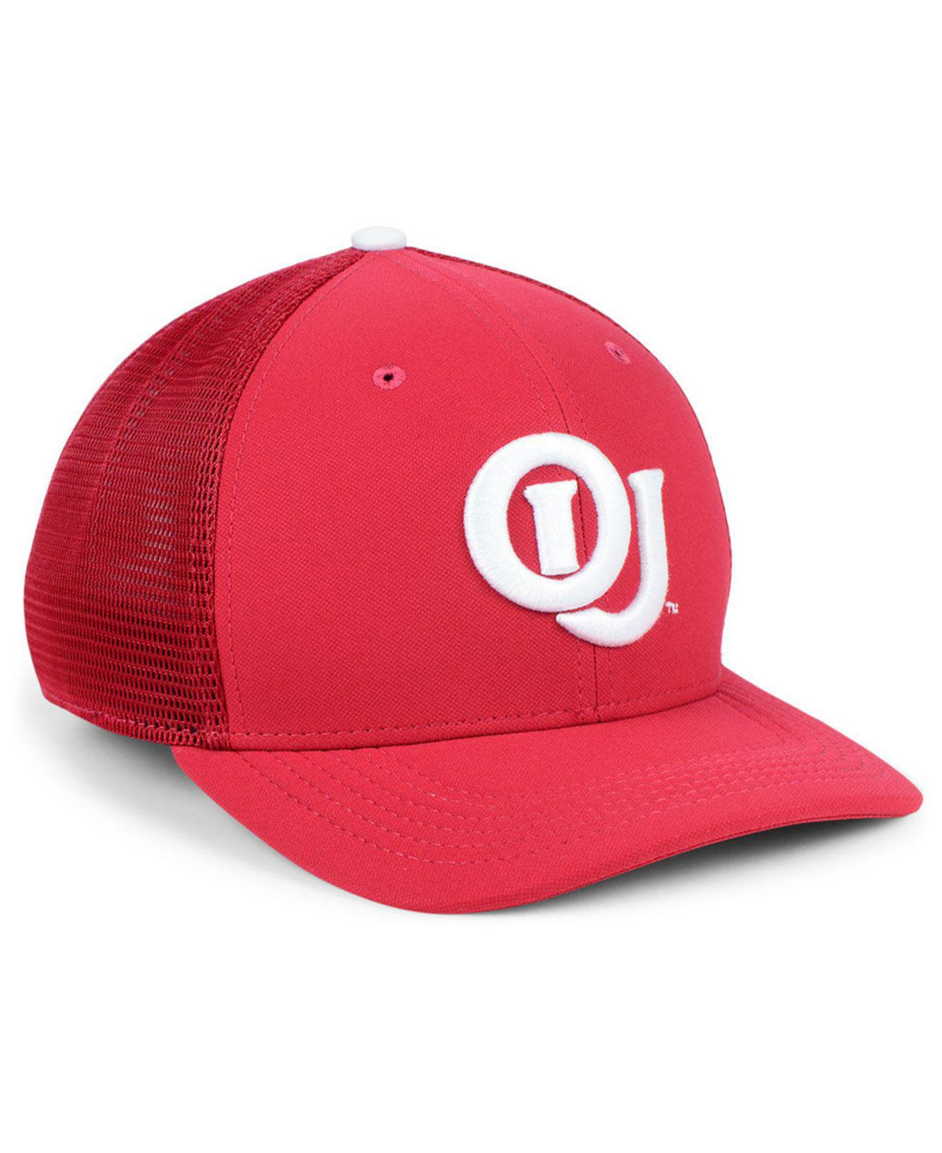 official photos 6bd4c 78a51 ... official store nike red oklahoma sooners col aro swooshflex cap for men  lyst. view fullscreen