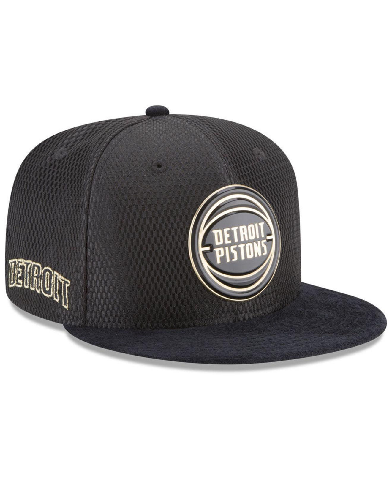 size 40 abf8f e8bad Lyst - KTZ Detroit Pistons On-court Black Gold Collection 9fifty ...