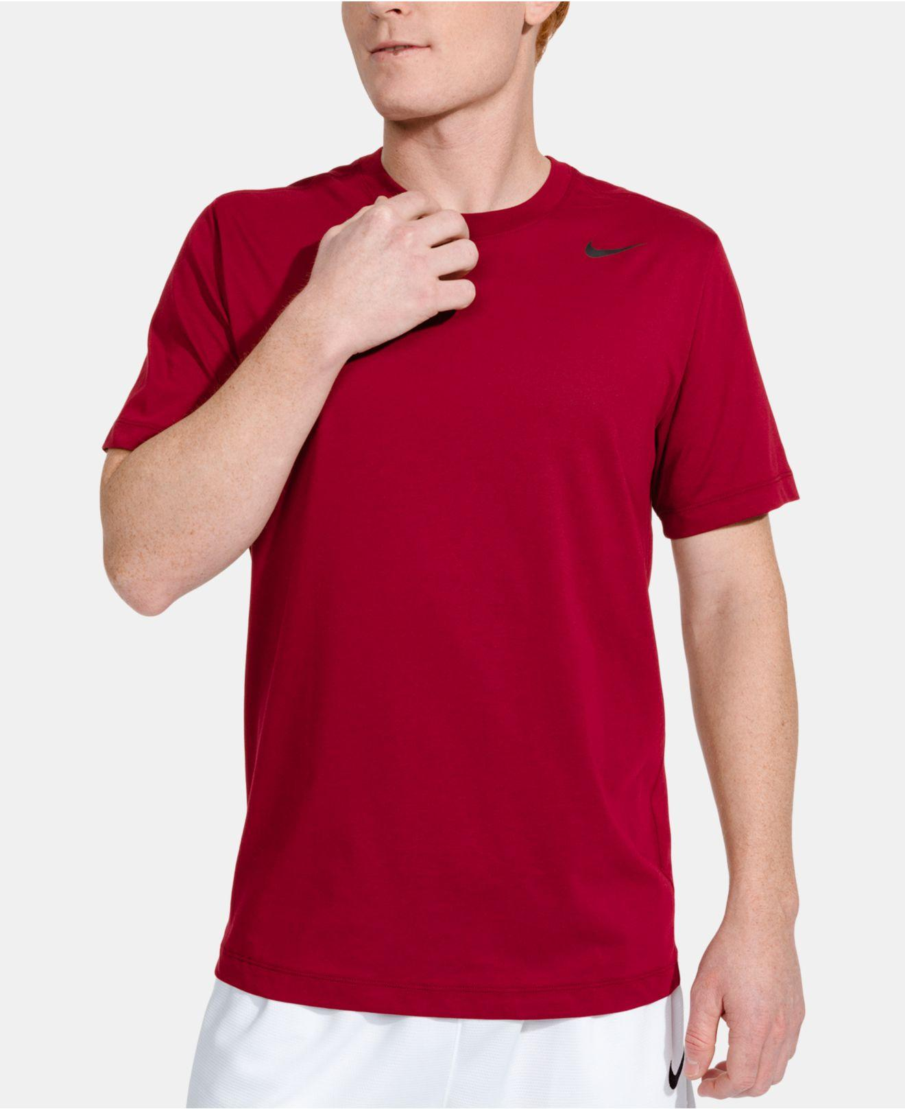 dccf04877 Lyst - Nike Dri-fit Training T-shirt in Red for Men