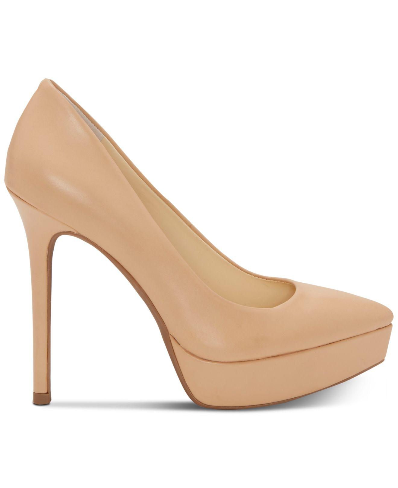811a0e978275 Jessica Simpson - Natural Lael Pointed-toe Platform Pumps - Lyst. View  fullscreen