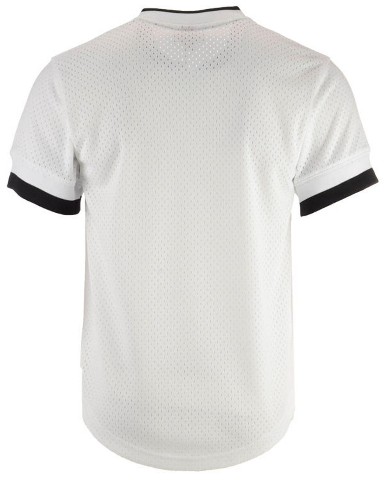 6af72570e Mitchell & Ness New York Yankees Mesh V-neck Jersey in White for Men ...