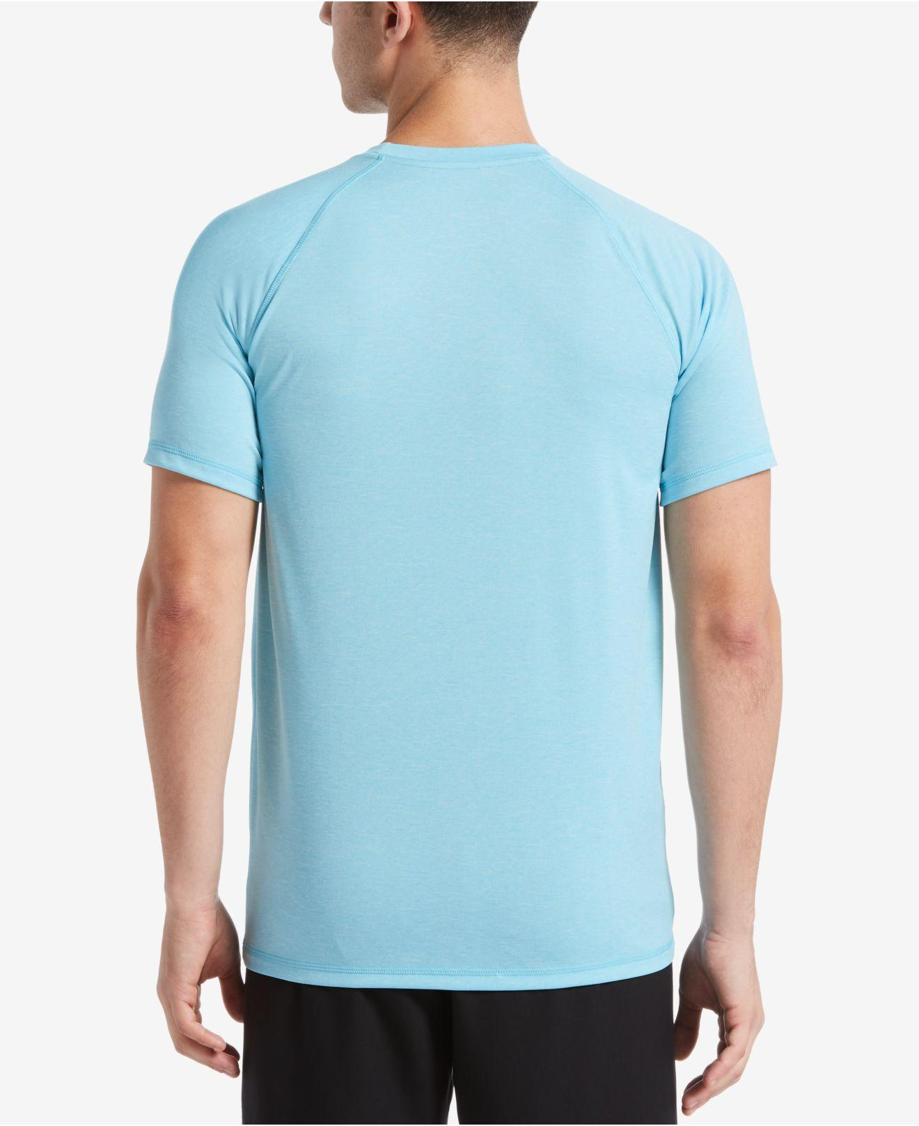 eb3b1cd5 Lyst - Nike Big & Tall Dri-fit Heather Hydroguard Upf 40 Rashguard Swim Tee  in Blue for Men - Save 36%
