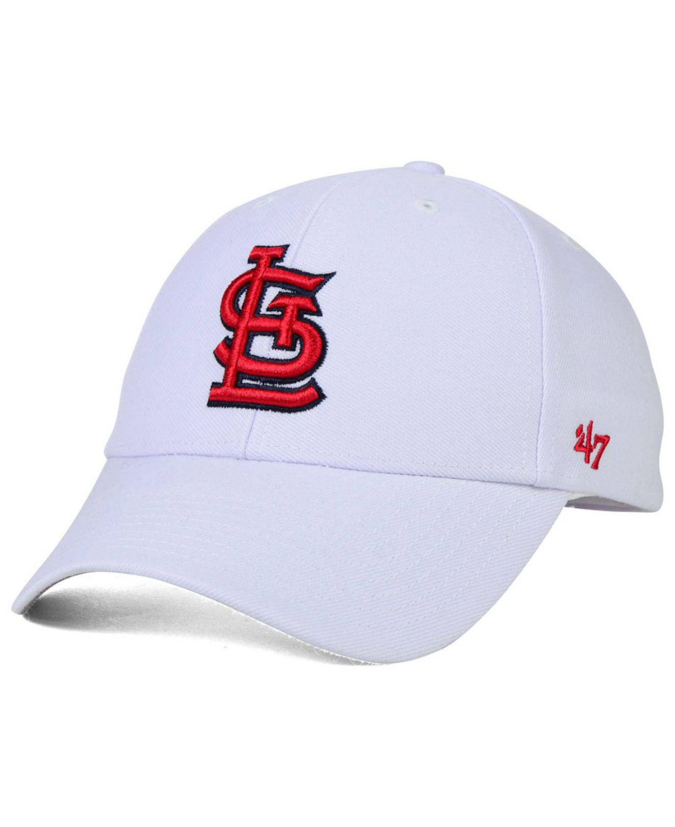 new styles ae13b 798d0 47 Brand. Men s White St. Louis Cardinals Mvp Curved Cap