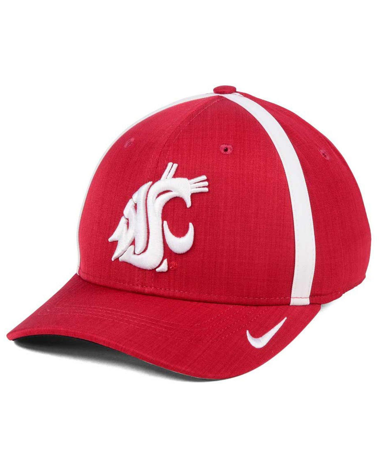 b8ad1152115c57 Lyst - Nike Aerobill Classic Sideline Swoosh Flex Cap in Red for Men