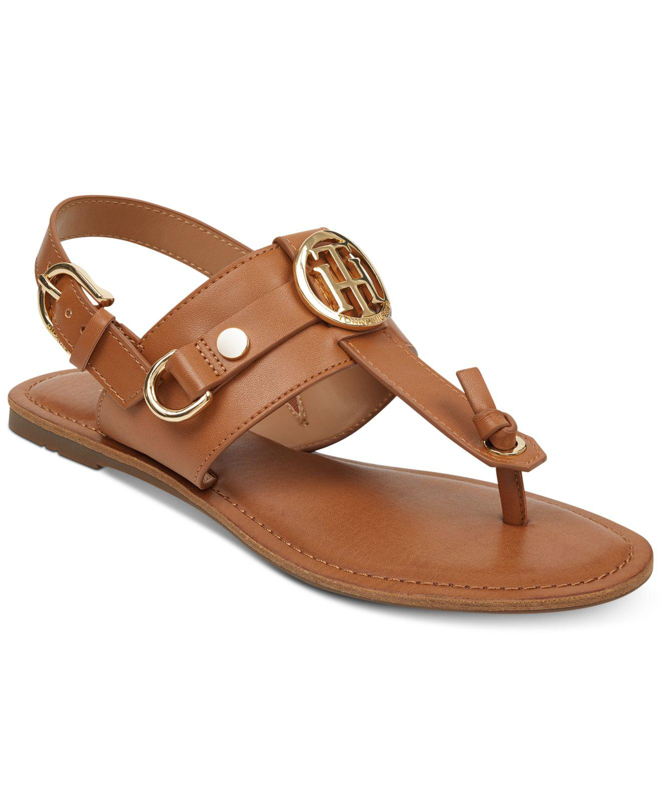 Tommy Hilfiger Women's Leather Strappy Flat Sling Back Sandals Buy Online Outlet 100% Original 2018 Unisex For Sale Buy Cheap For Nice Sale Explore hFEBur1Bw