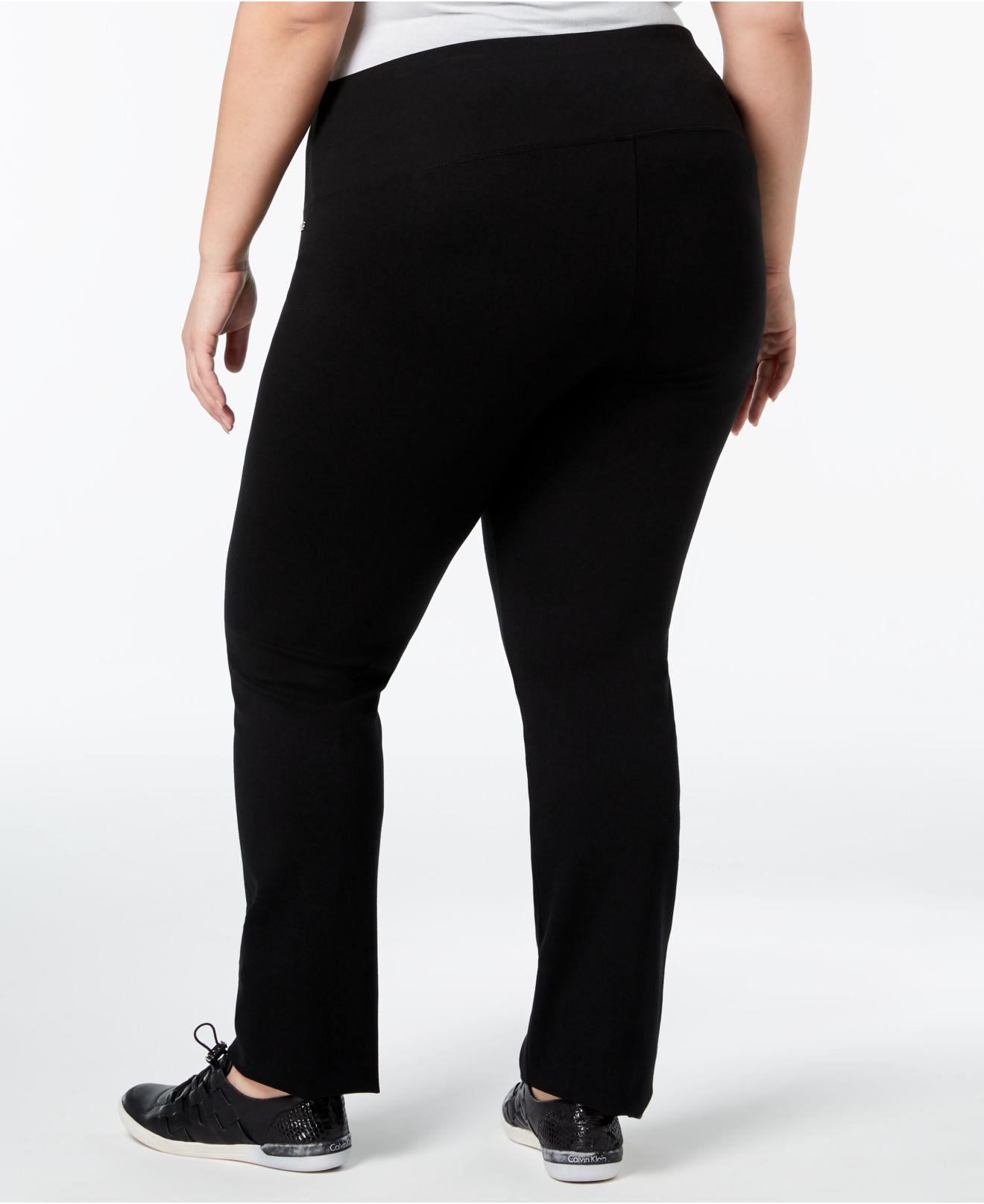 b30d7c3867e Lyst - Calvin Klein Plus Size Pull-on Active Leggings in Black