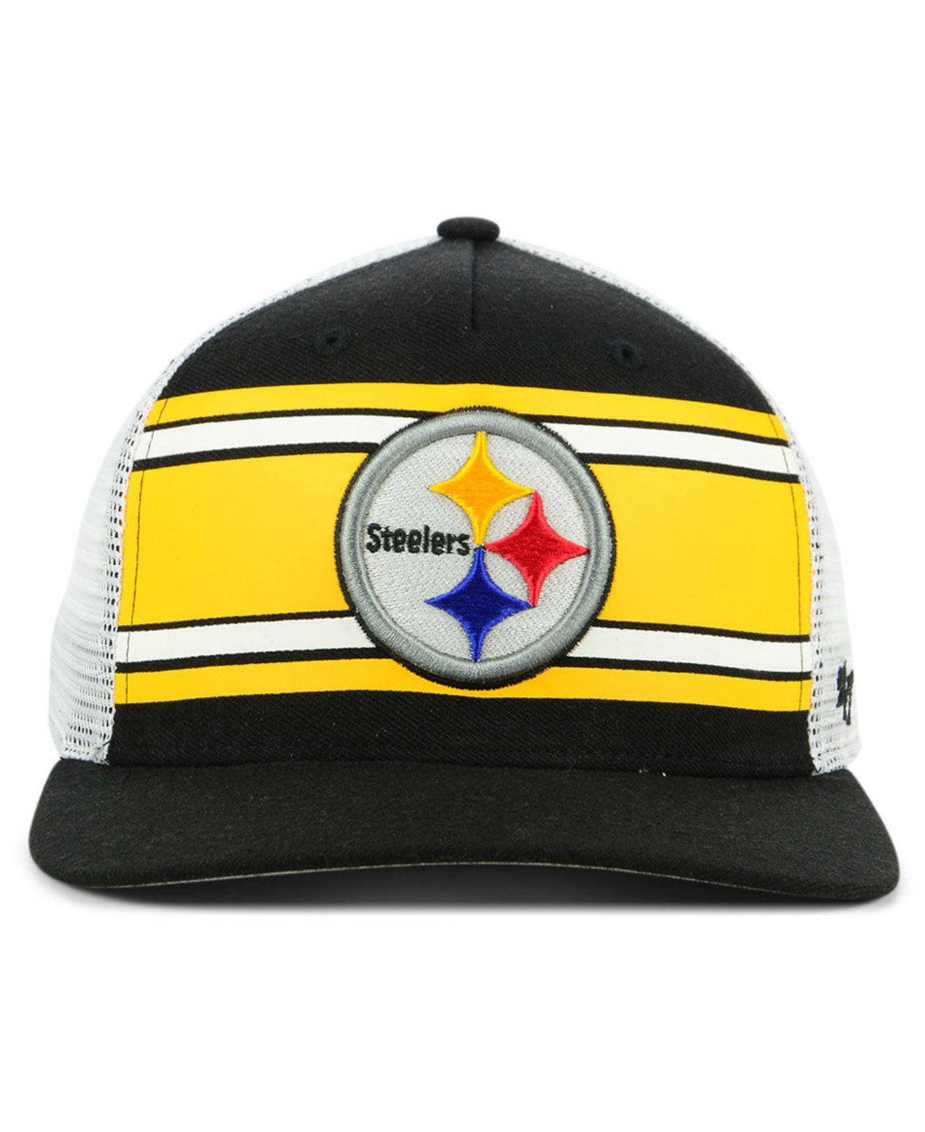 bd4729177fe Lyst - 47 Brand Pittsburgh Steelers Team Stripe Mvp Cap for Men