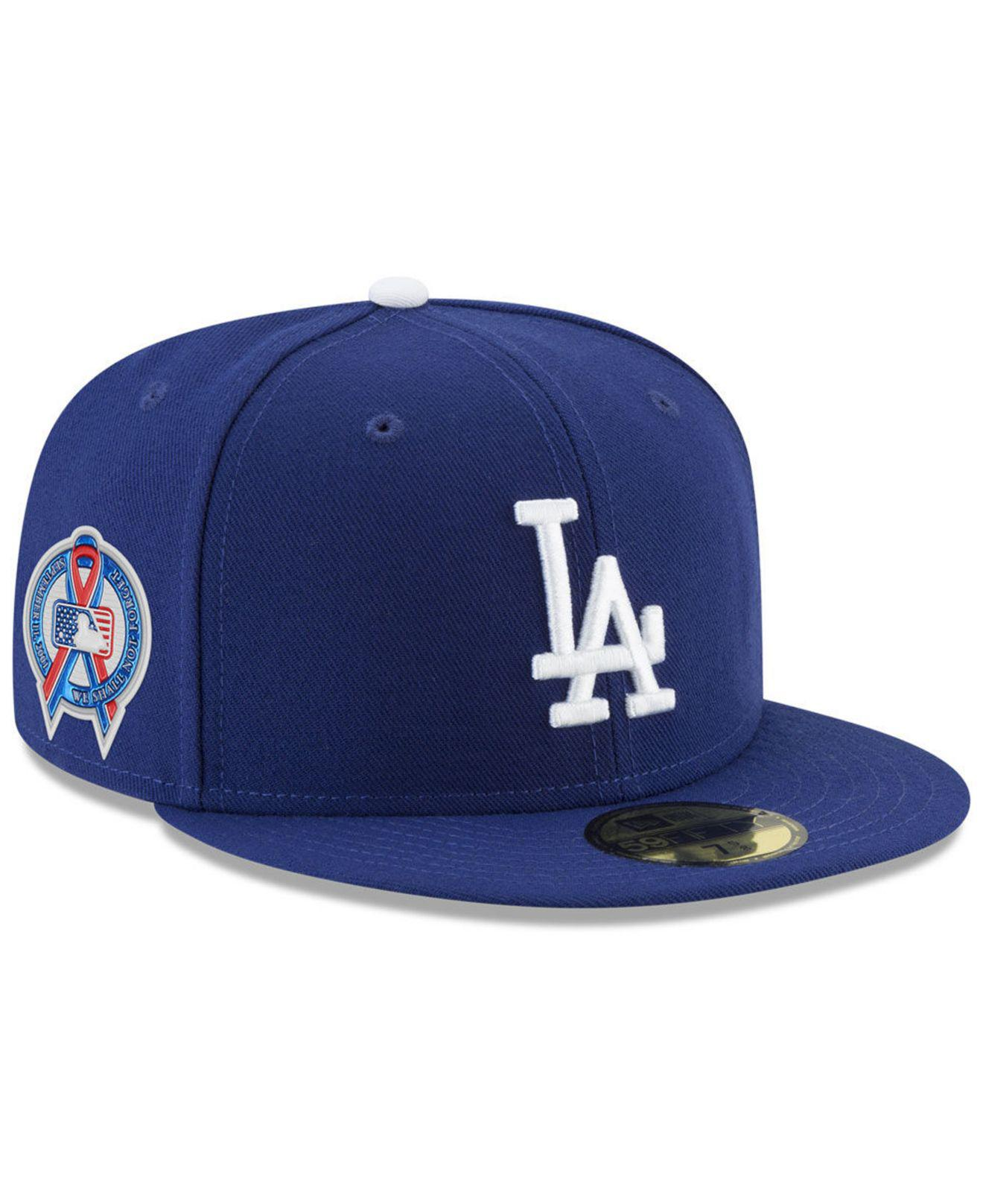 san francisco 47124 4f0ec KTZ. Men s Blue Los Angeles Dodgers 9-11 Memorial 59fifty Fitted Cap