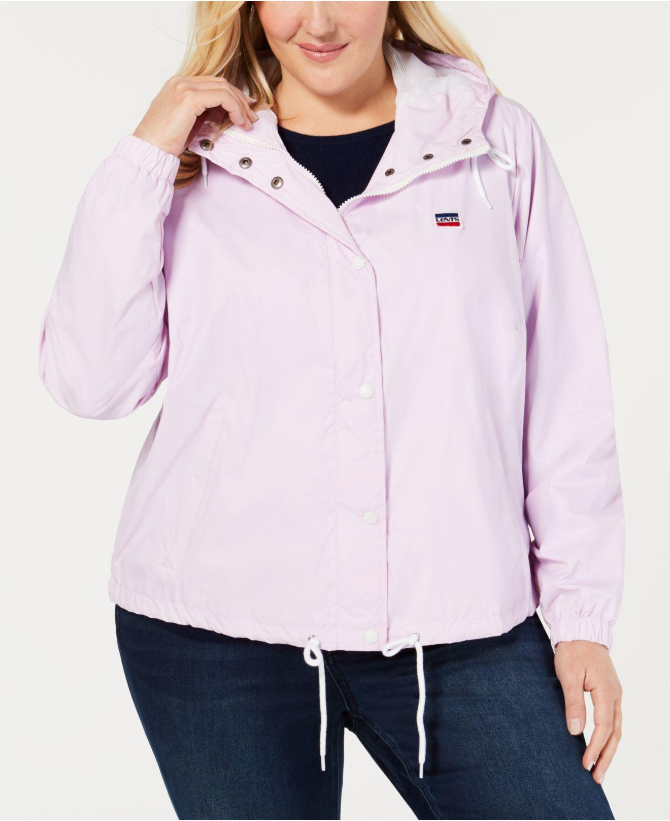 240bda81df7 Lyst - Levi's ® Trendy Plus Size Active Rain Slicker Jacket in Pink