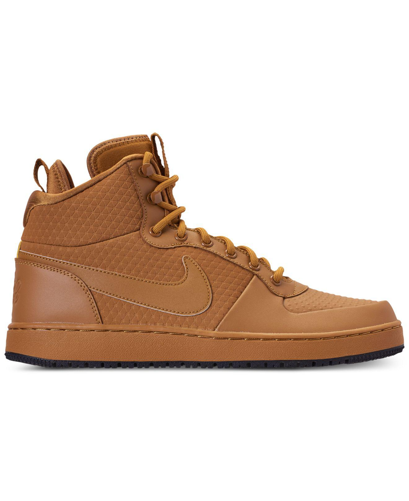 959633b858 Lyst - Nike Ebernon Mid Winter Casual Sneakers From Finish Line in Brown  for Men - Save 16%