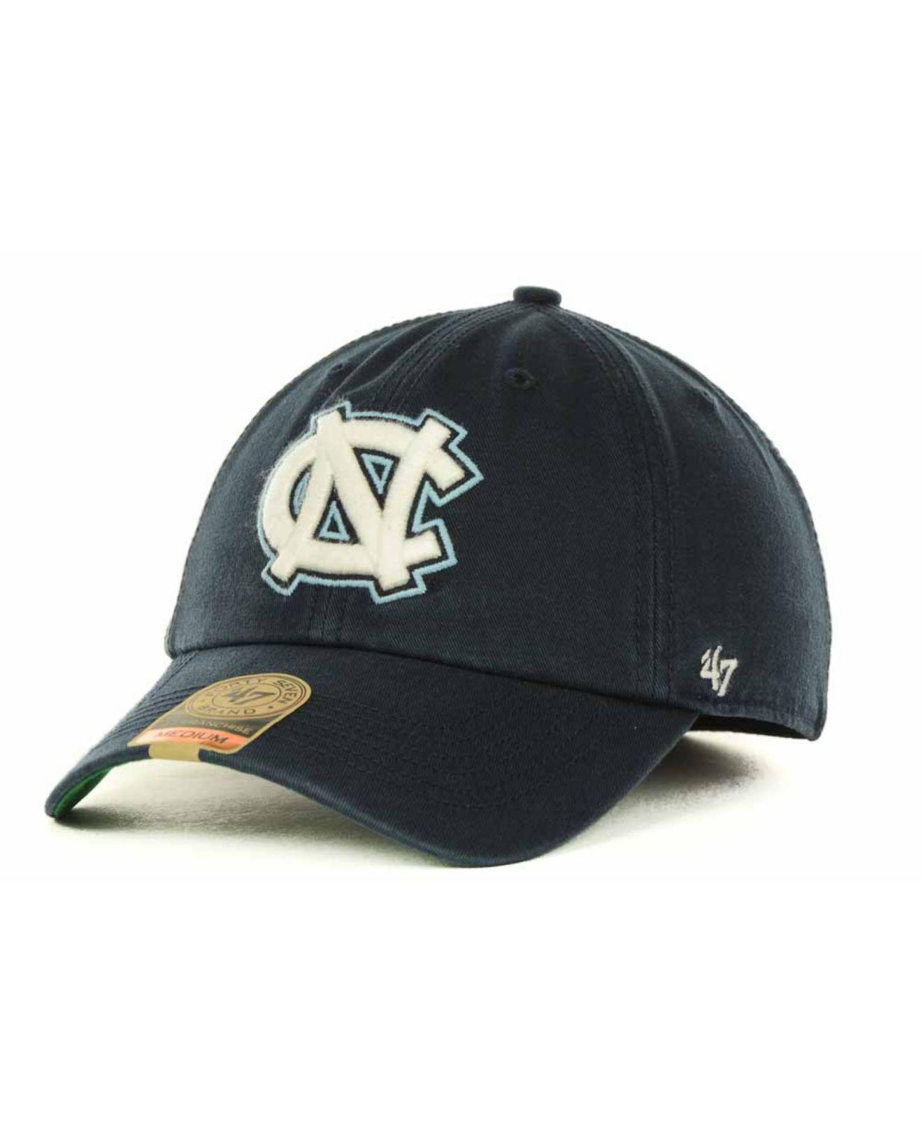best sneakers 98318 d657e ... official store lyst 47 brand north carolina tar heels franchise cap in  blue for men 257f2