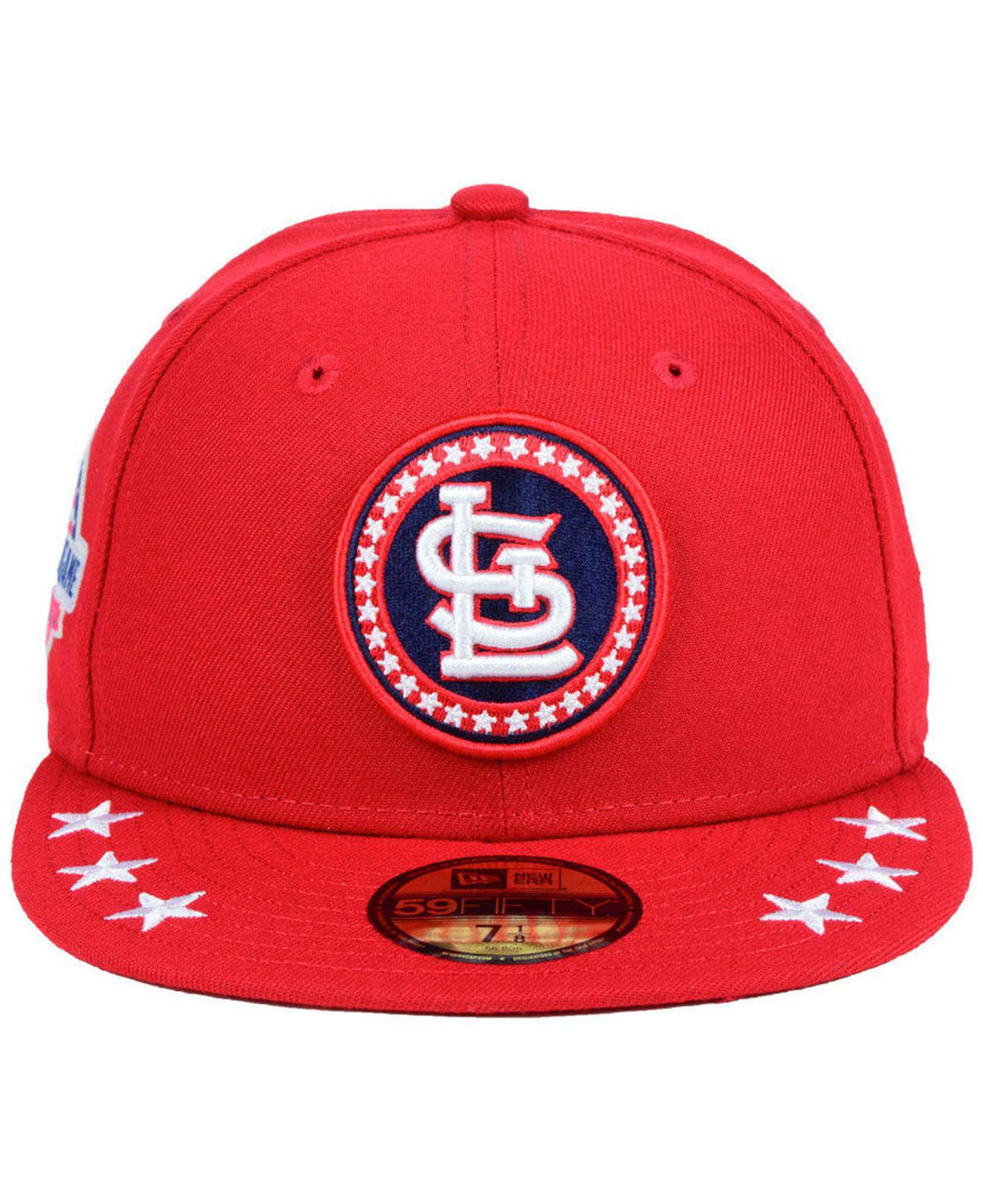 sale retailer a4a8a 23262 Lyst - KTZ St. Louis Cardinals All Star Workout 59fifty Fitted Cap in Red  for Men