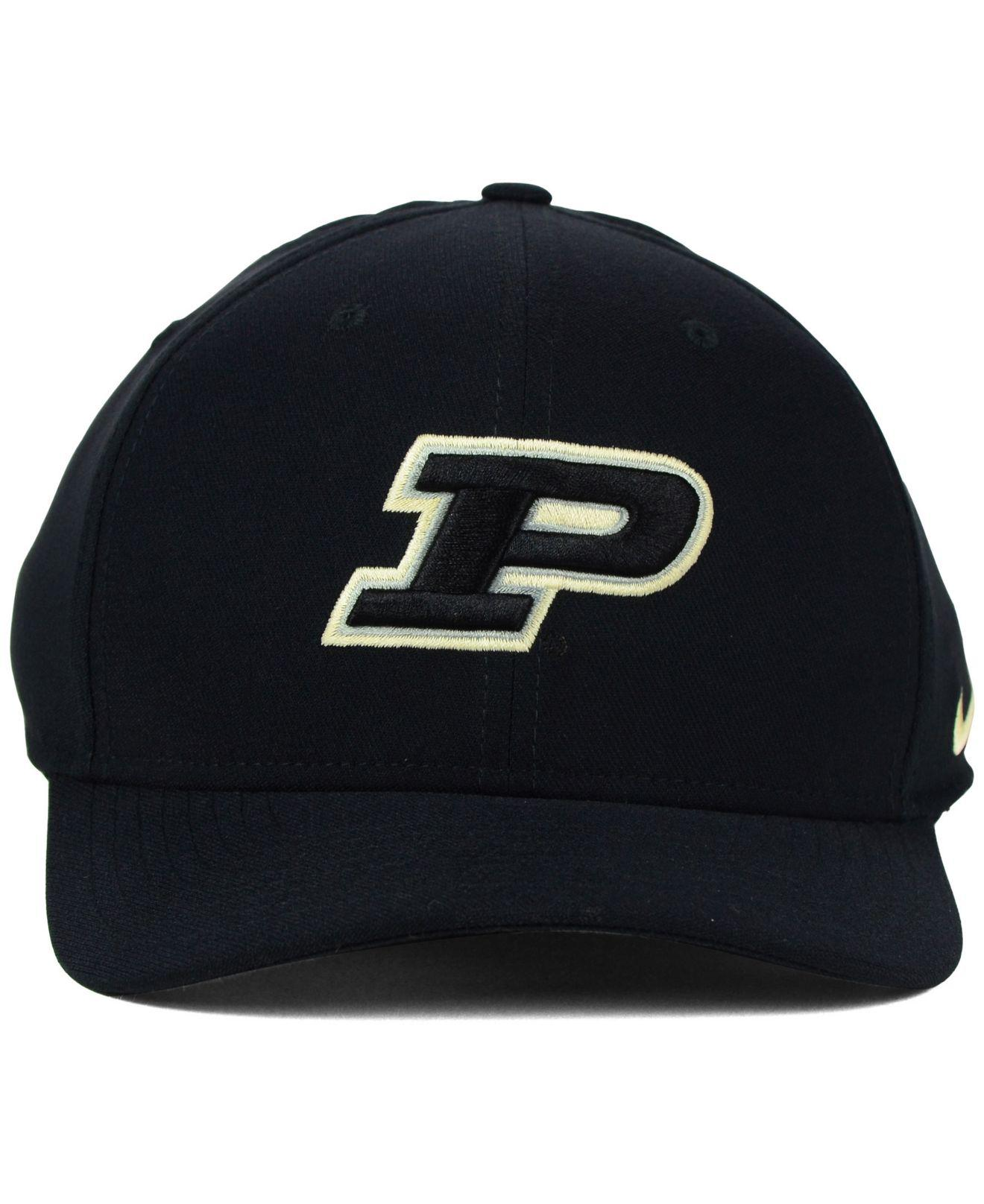 newest b9456 209e5 Lyst - Nike Purdue Boilermakers Classic Swoosh Cap in Black for Men