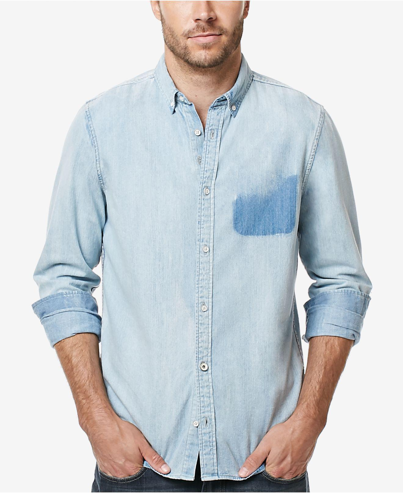 f9e53fea55 Lyst - Buffalo David Bitton Men s Sigmun Denim Shirt in Blue for Men