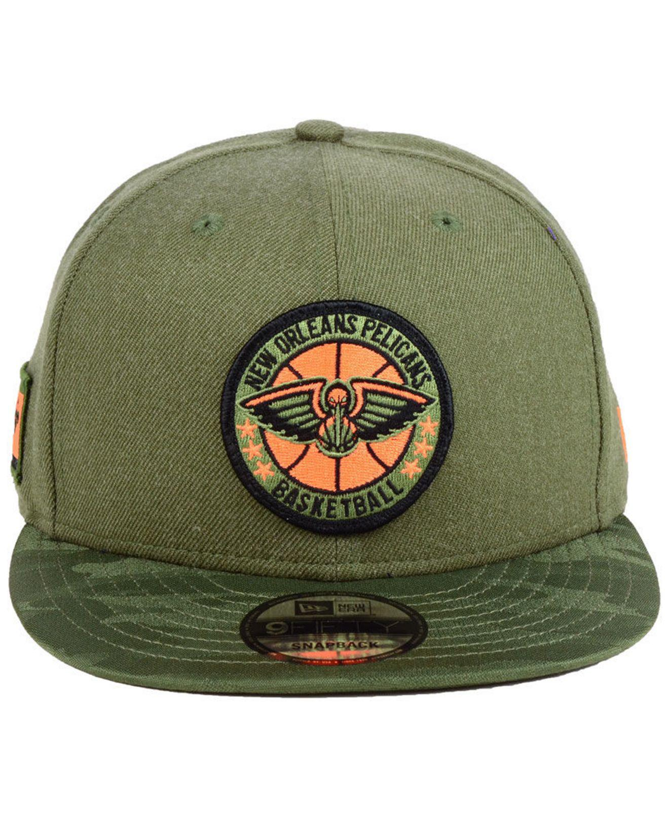 premium selection 50342 41052 Lyst - KTZ New Orleans Pelicans Tip Off 9fifty Snapback Cap in Green for Men