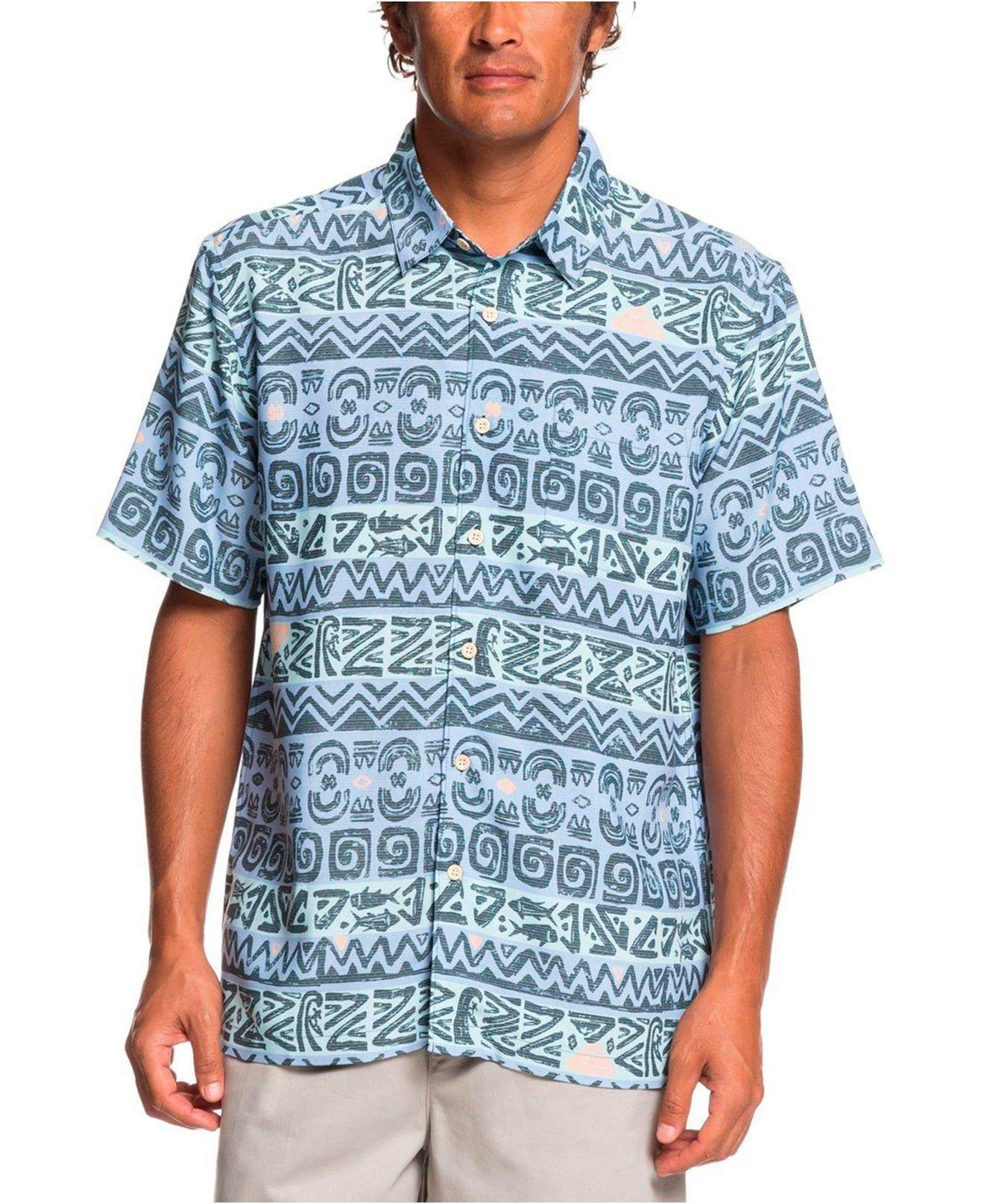 c57b1515b Lyst - Quiksilver Tapa Tapa Shirt in Blue for Men