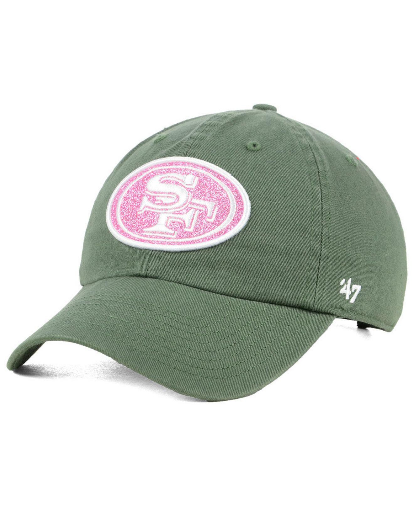 d75fa2fe2af5e7 ... italy 47 brand. womens green san francisco 49ers moss glitta clean up  cap ae899 9a711