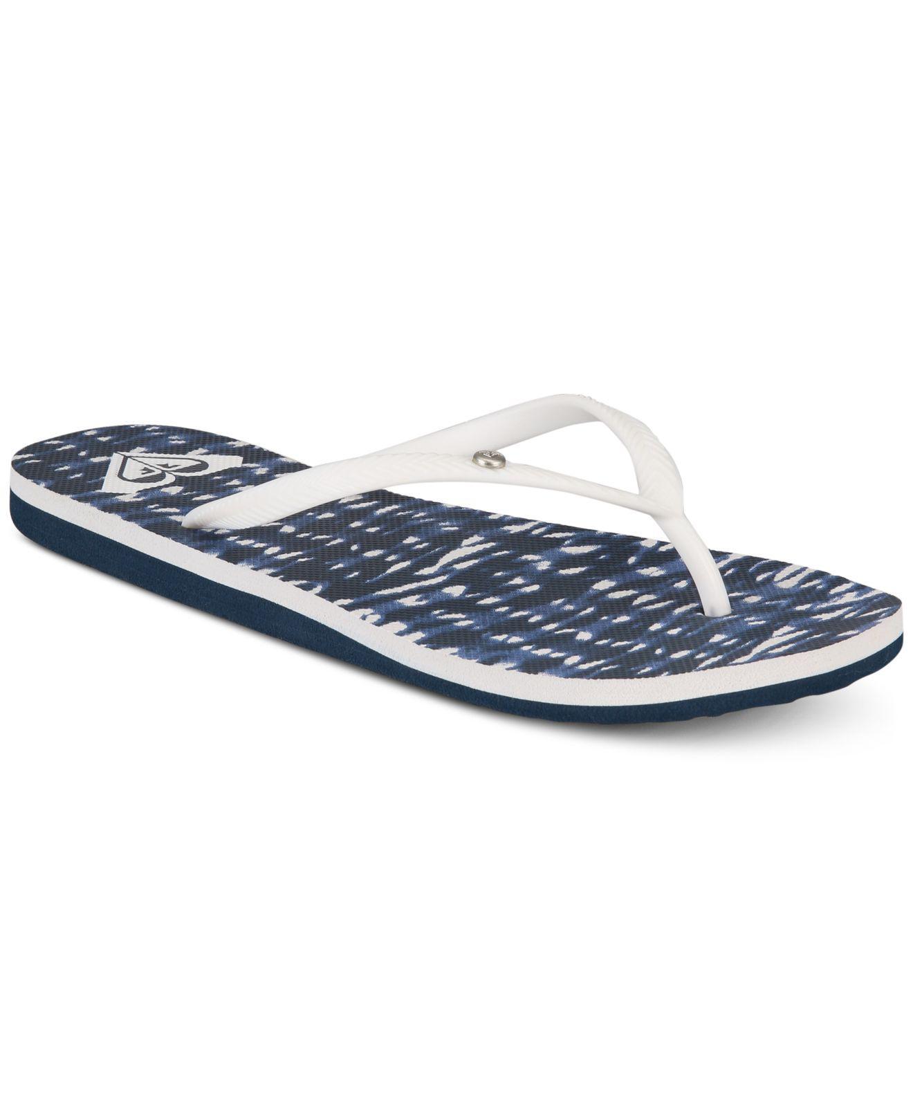 a8de7d8d6a6 Lyst - Roxy Bermuda Flip-flop Sandals in Blue