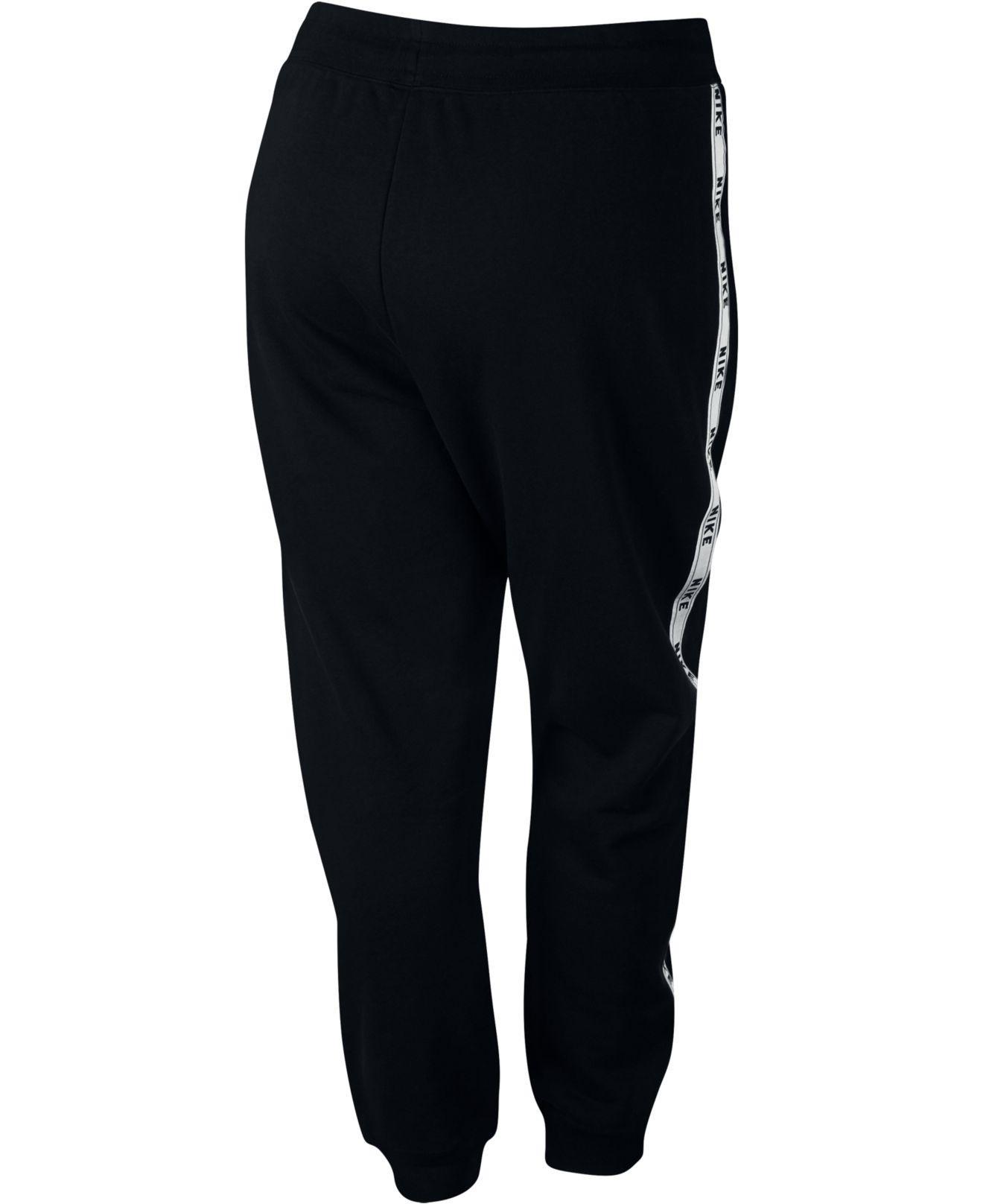 Lyst Nike Plus Size Sportswear Logo Joggers In Black